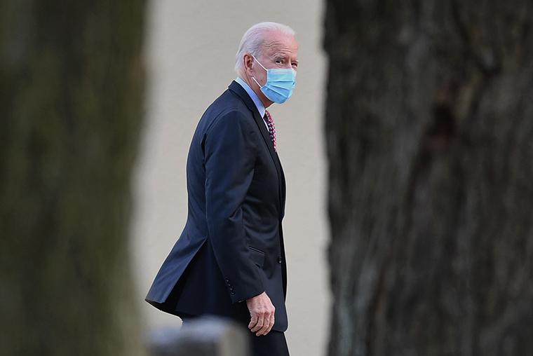 US President-elect Joe Biden on January 16, 2021 in Wilmington, Delaware.