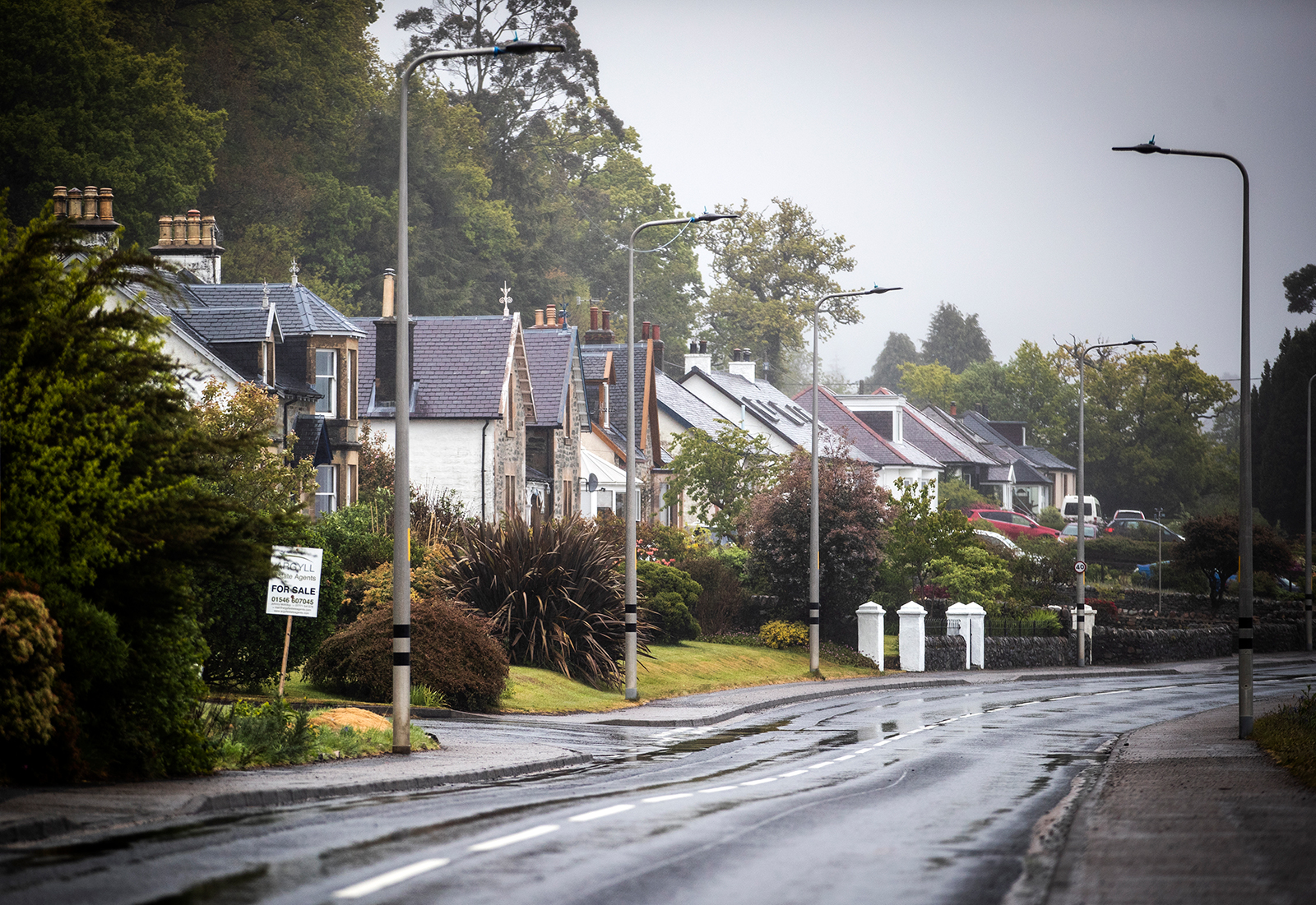 Homes in the village of Minard in Argyll and Bute, Scotland on Monday, May 18.