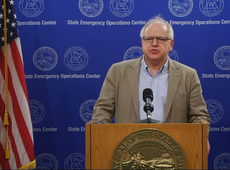 Minnesota Gov. Tim Walz speaks during a news conference on June 1.