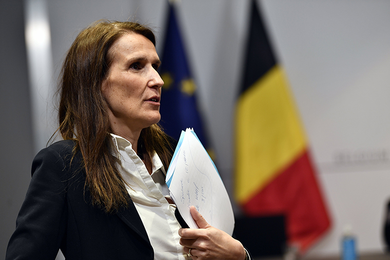 Belgian Prime Minister Sophie Wilmes