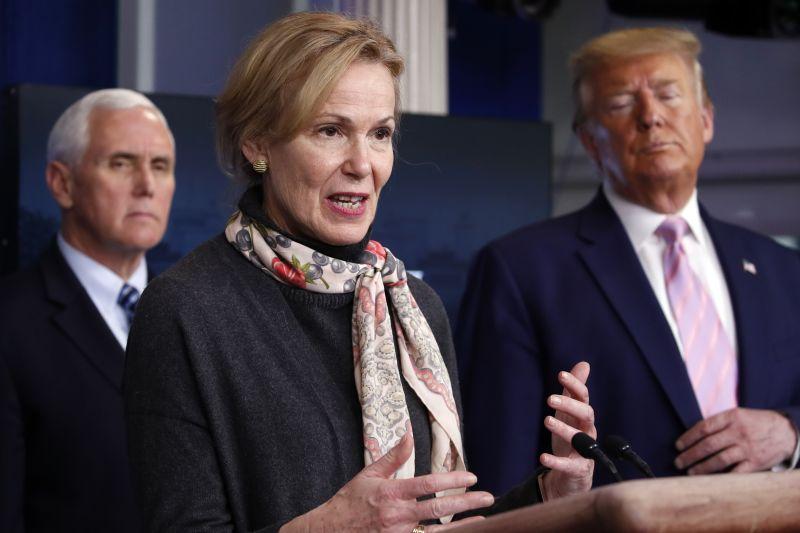 Dr. Deborah Birx, White House coronavirus response coordinator, speaks at the White House on Wednesday, April 1.