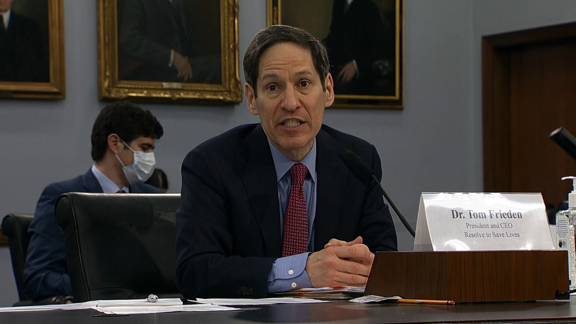 Dr. Tom Frieden, the former director of the US Centers for Disease Control and Prevention, speaks at a hearing on the country's response to Covid-19 on May 6.