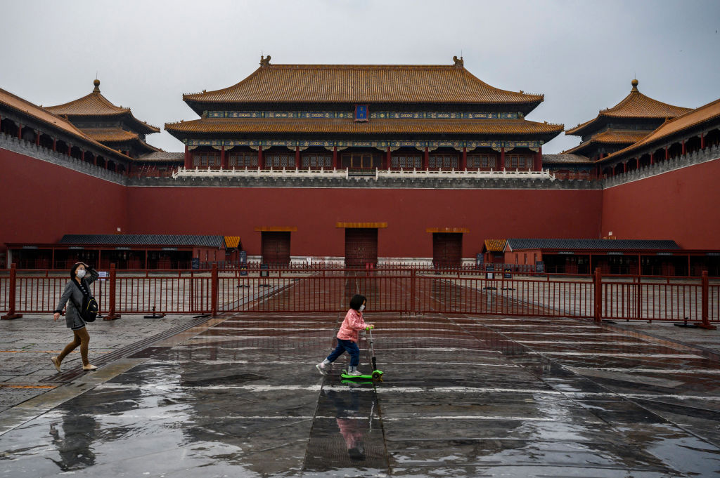 The gate of the Forbidden City, closed to visitors on April 19 in Beijing, China.