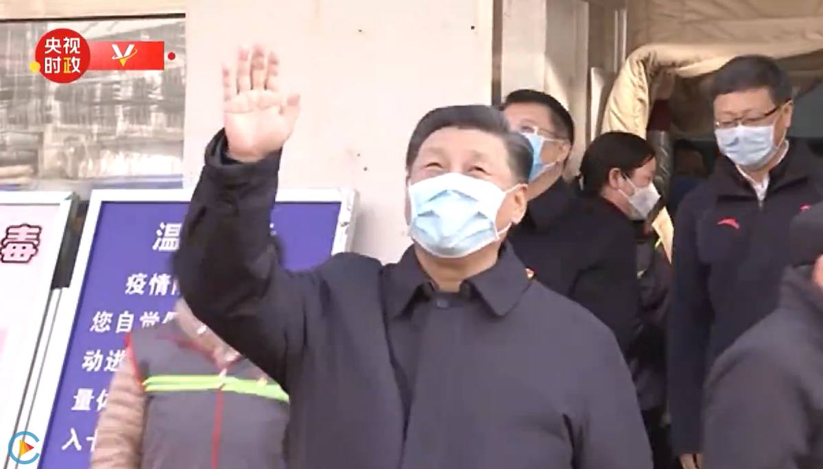 Chinese President Xi Jinping, seen here inspecting efforts to contain the Wuhan coronavirus in Beijing on February 10, 2020, has been strangely missing in recent weeks.