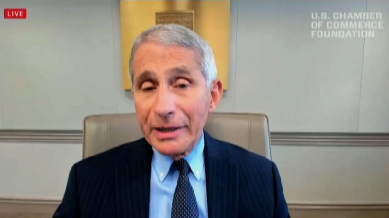 Dr. Anthony Fauci speaks during a US Chamber of Commerce Foundation virtual event on July 17.