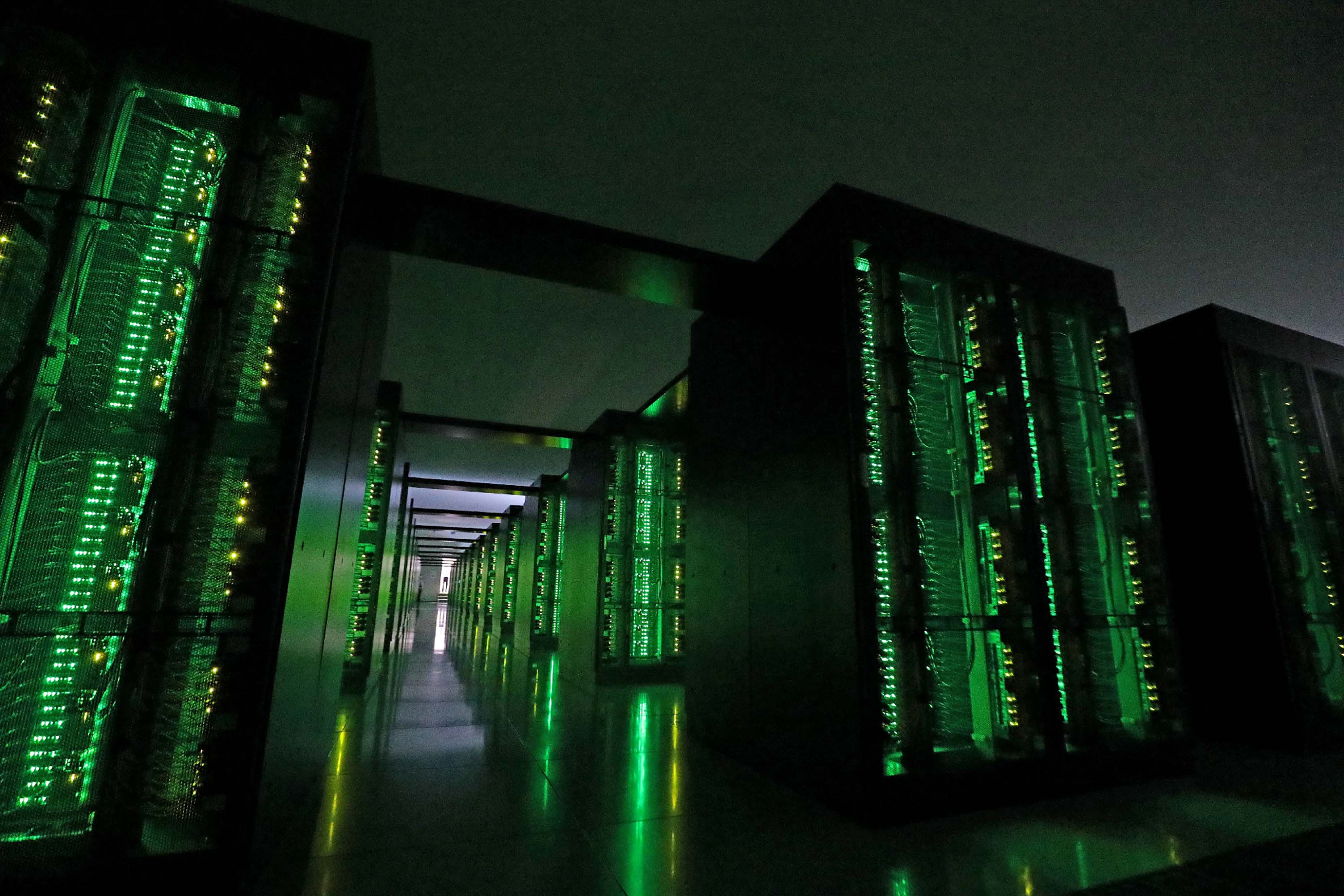 The Fugaku supercomputer is pictured at the Riken Center for Computational Science in Kobe, Japan, on June 16.