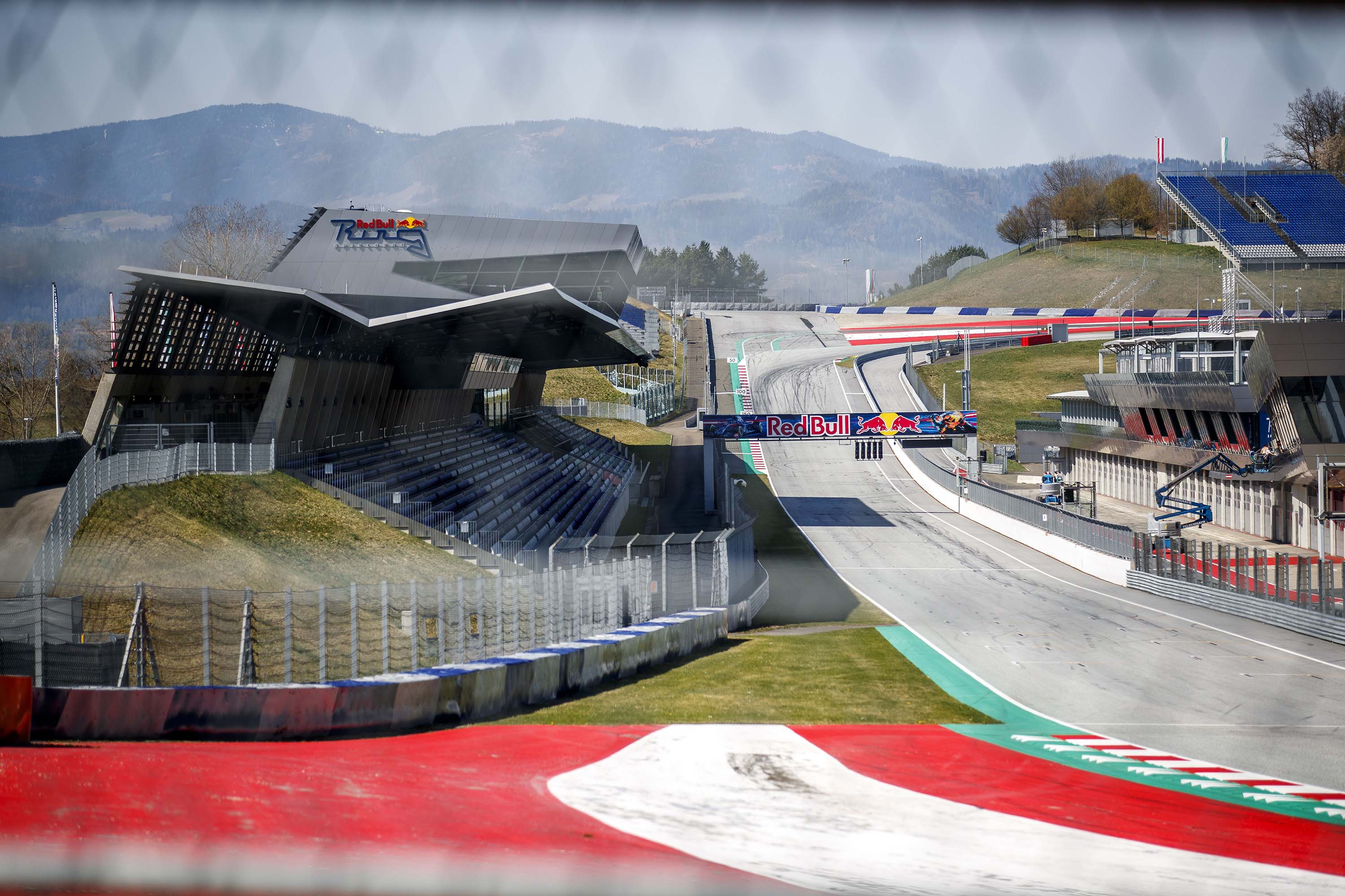 The Red Bull Ring race track is pictured in Spielberg, Austria in April.