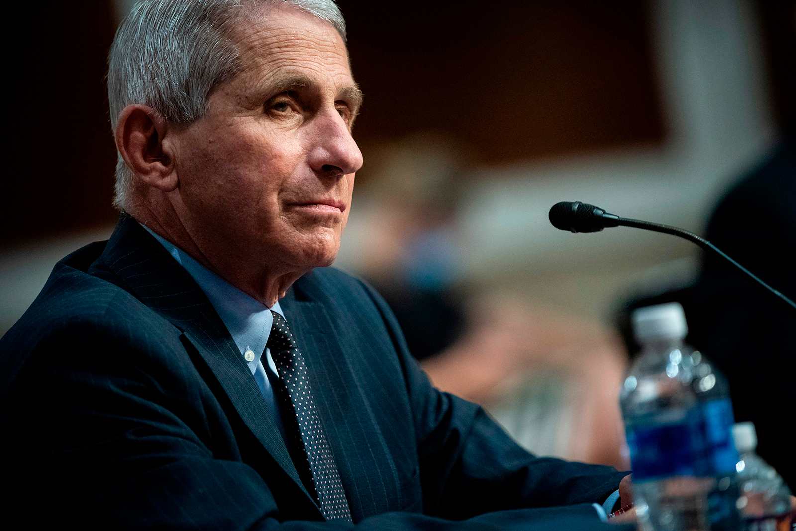 Anthony Fauci, director of the National Institute of Allergy and Infectious Diseases, listens during a Senate Health, Education, Labor and Pensions Committee hearing in Washington, DC, on June 30.