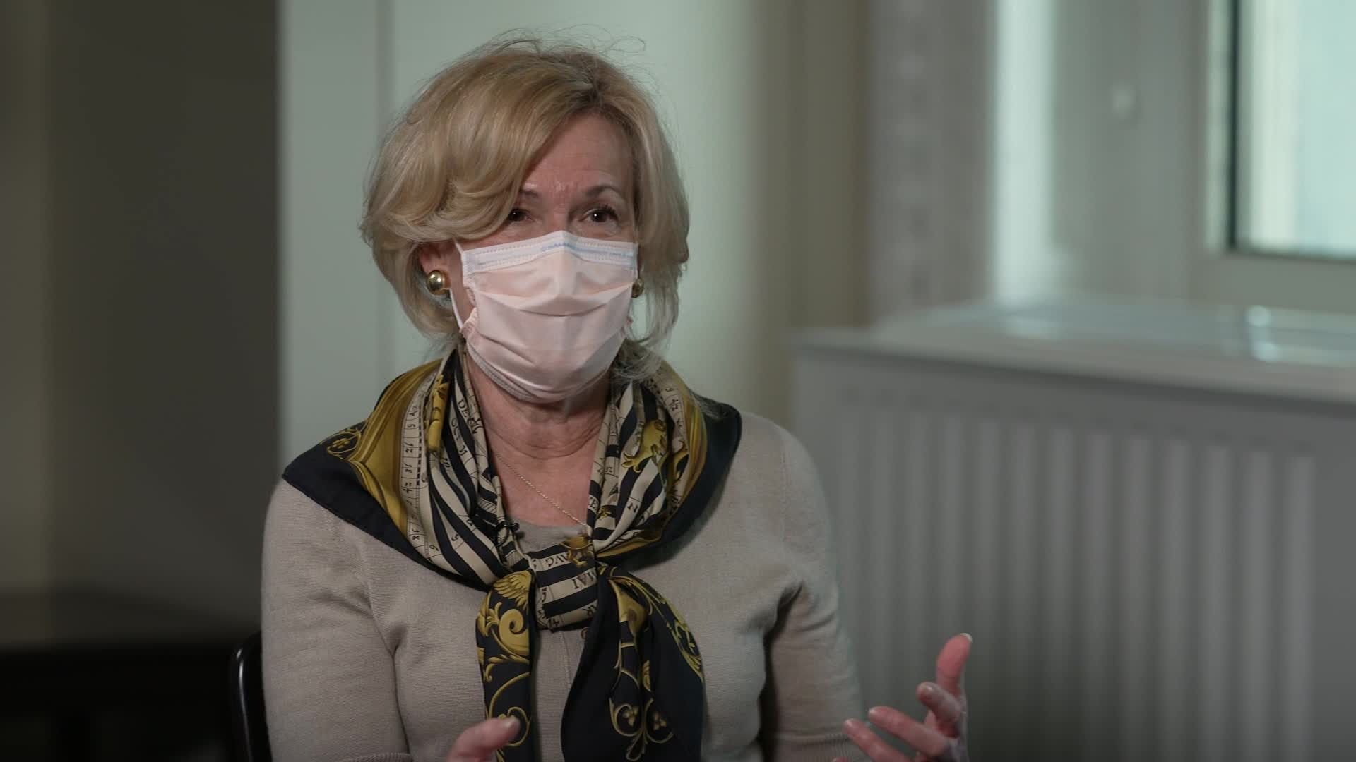 White House coronavirus task force member Dr. Deborah Birx speaks during an interview on November 20.