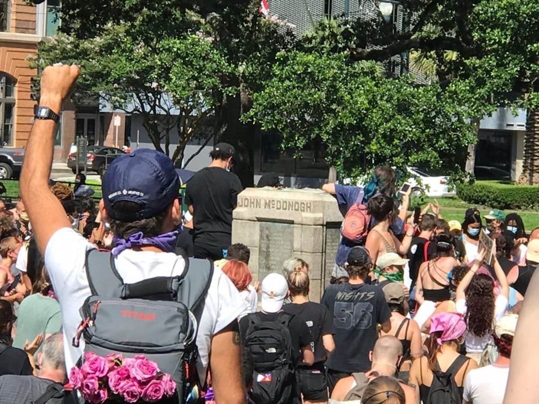 A protest Saturday in New Orleans