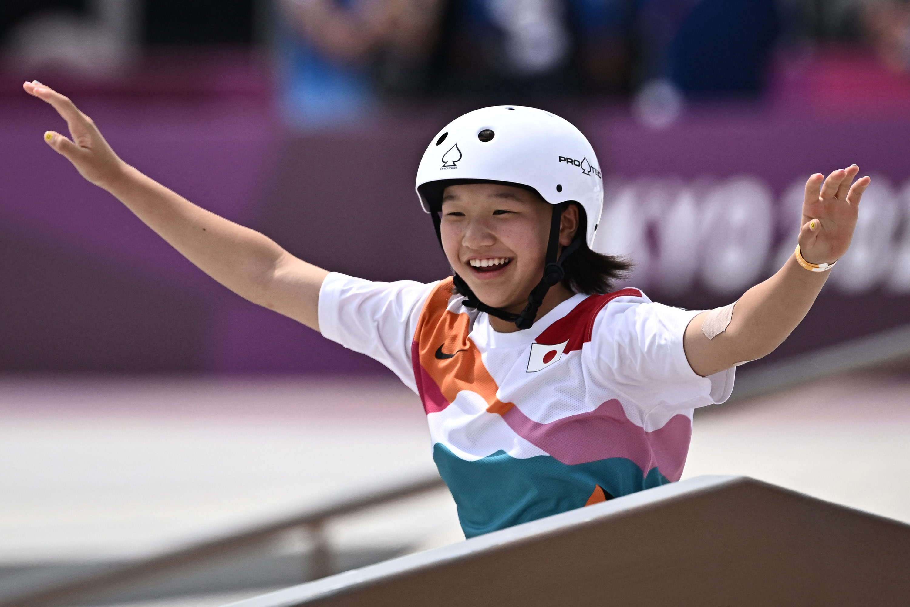 Skateboarder Nishiya Momiji, 13, just became one of the youngest gold medal winners ever