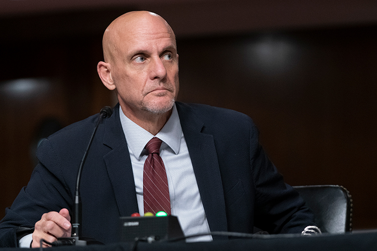 U.S. Food and Drug Administration Commissioner Stephen Hahn testifies at a hearing of the Senate Health, Education, Labor and Pensions Committee on Wednesday, September 23, in Washington, DC.