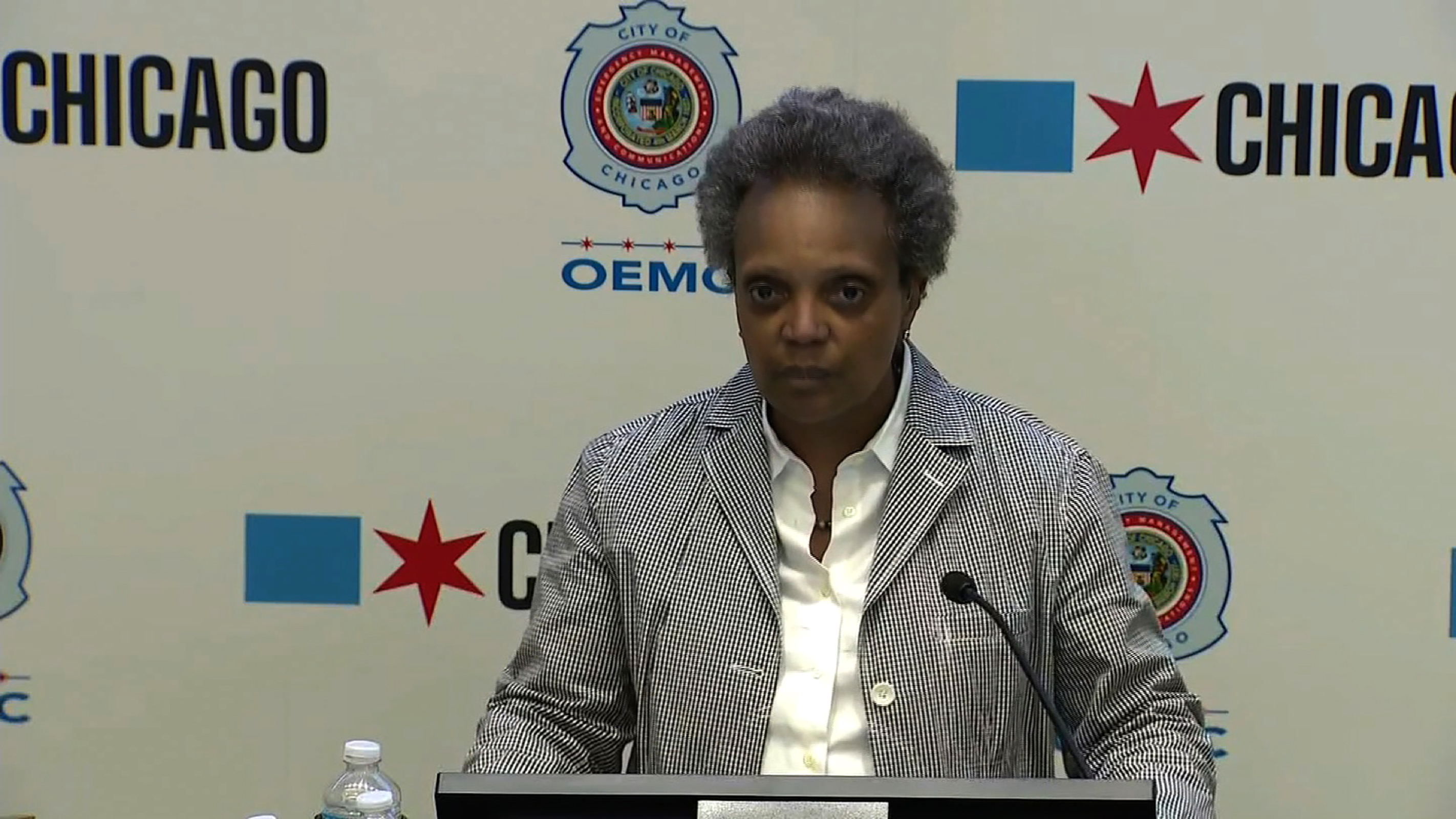 Chicago Mayor Lori Lightfoot speaks at a news conference in Chicago, on May 30.