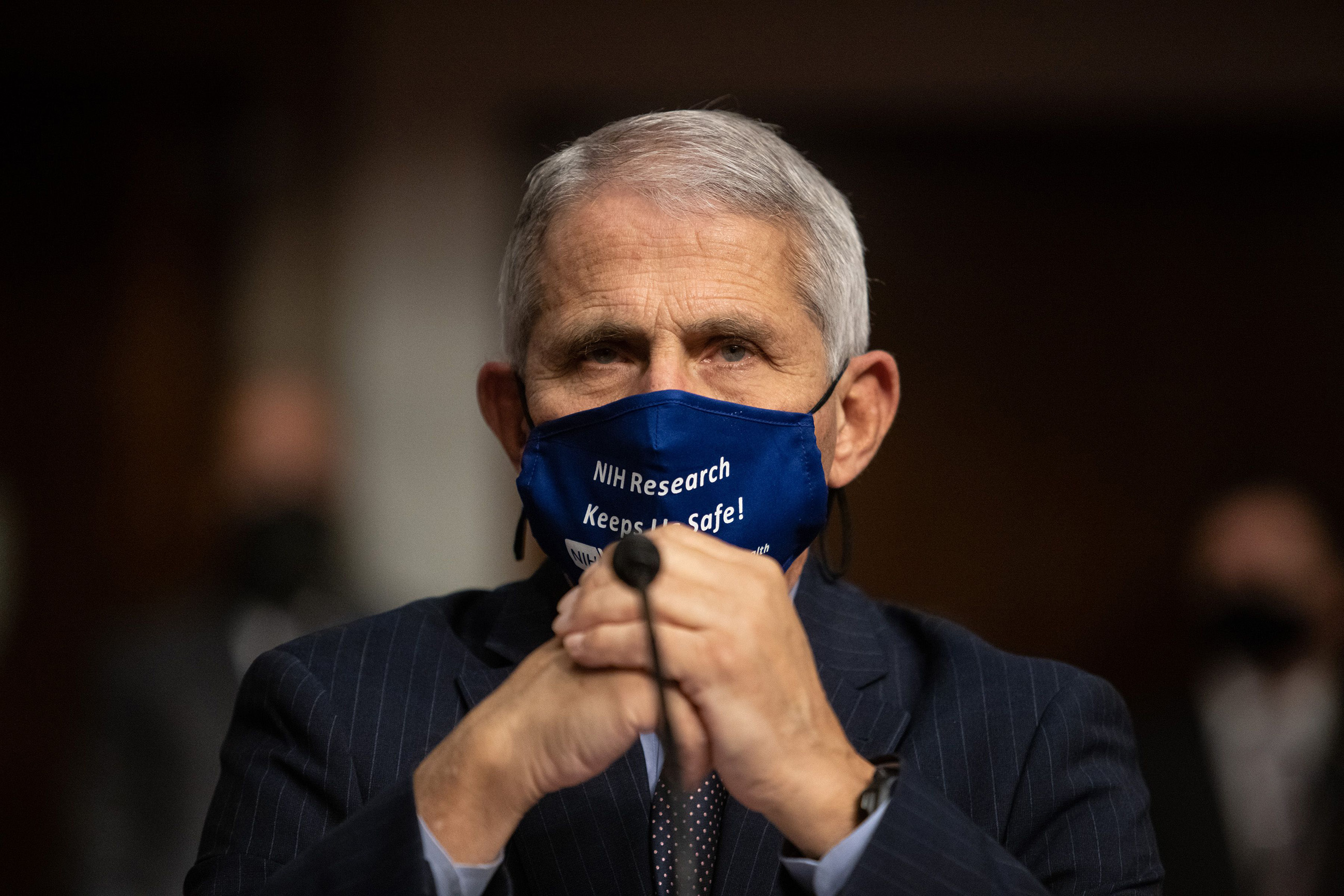 Dr. Anthony Fauci, Director of National Institute of Allergy and Infectious Diseases at the National Institutes of Health, testifies during a committee hearing on Capitol Hill in Washington, DC, on September 23.