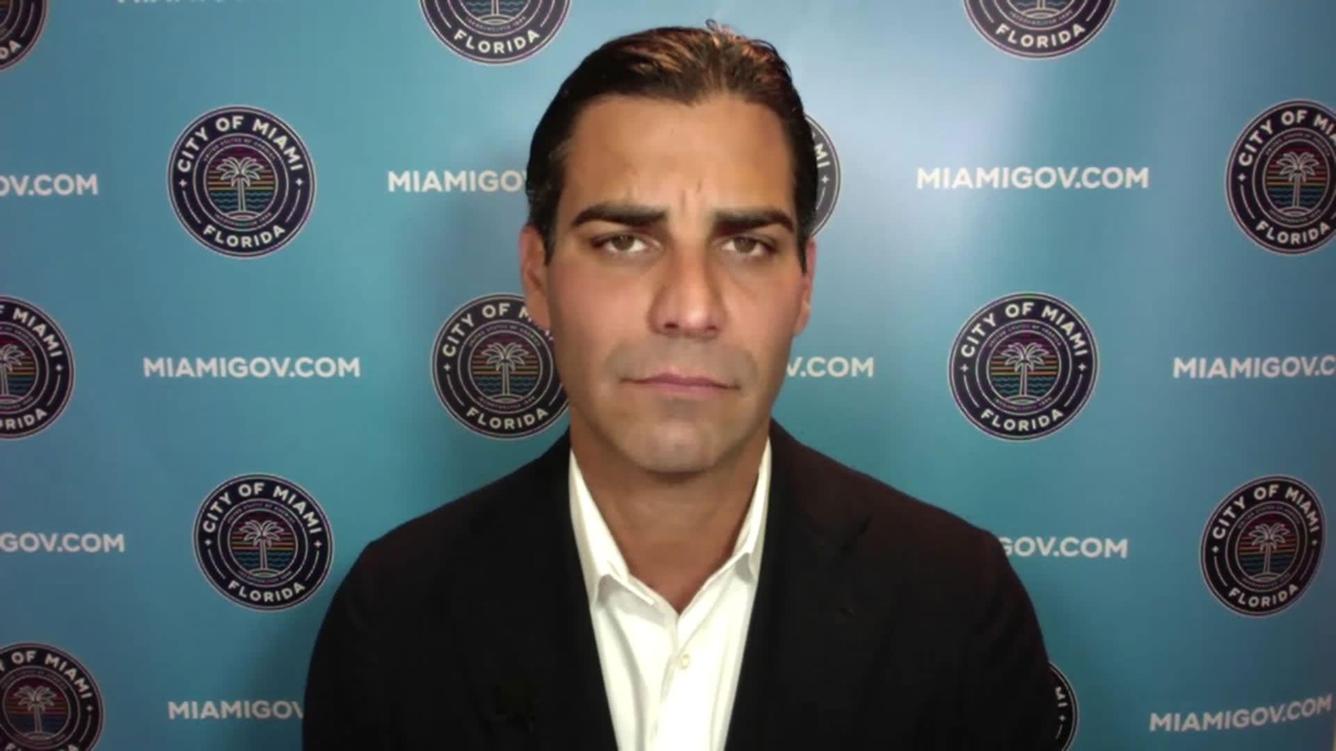Miami Mayor Francis Suarez speaks with CNN on Saturday, September 26.