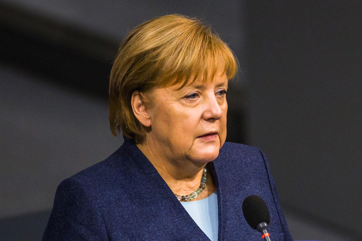 German Chancellor Angela Merkel speaks in the Bundestag in Berlin on December 16, 2020.