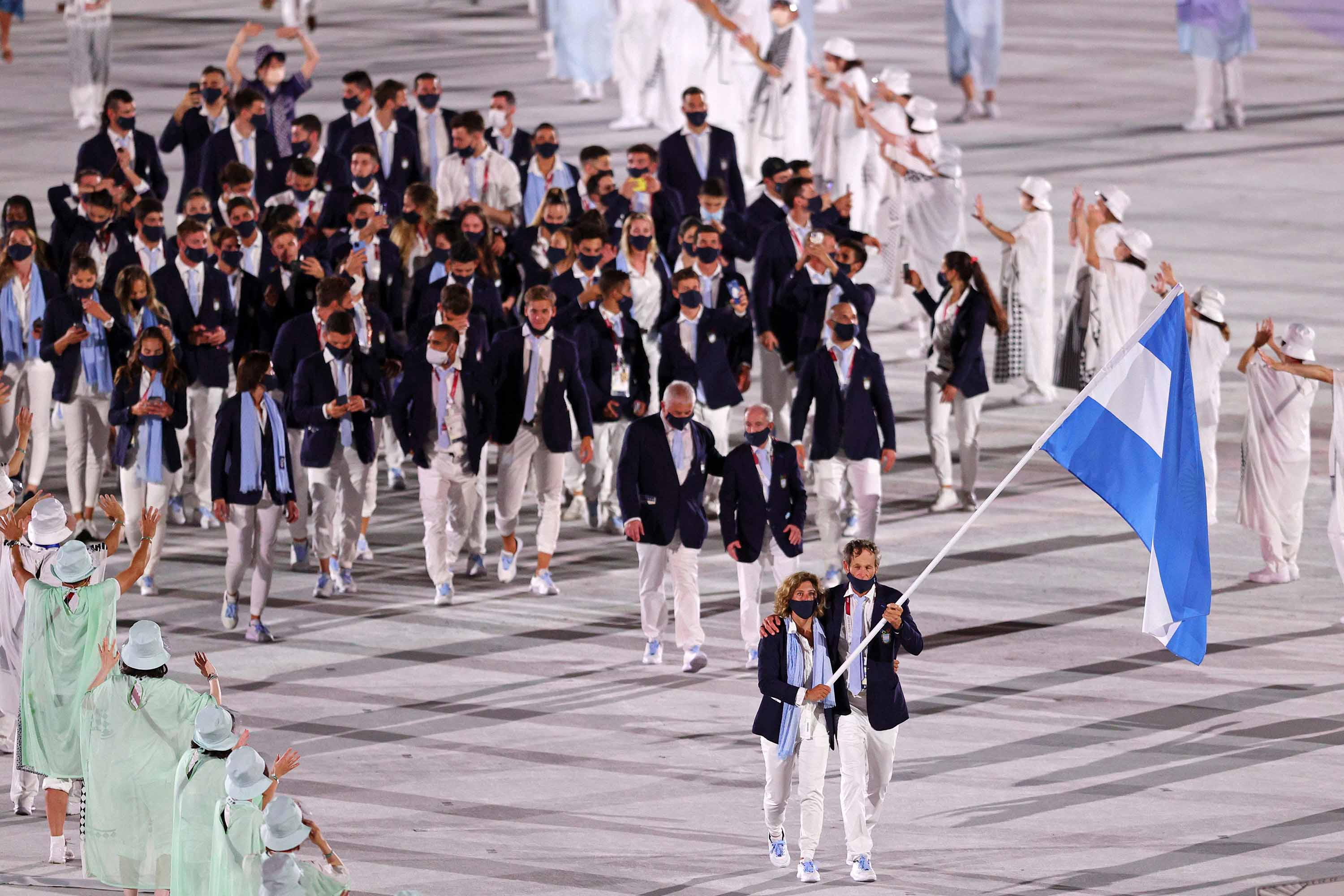 Team Argentina parades during the Opening Ceremony.