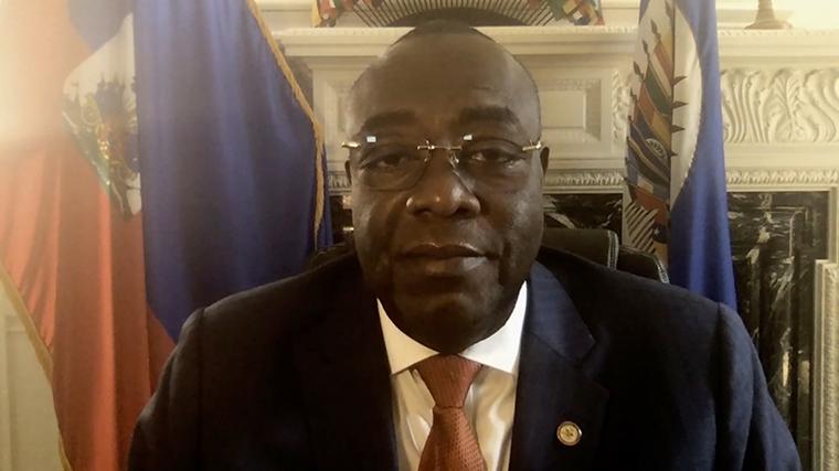 Haitian ambassador to the US Bocchit Edmond