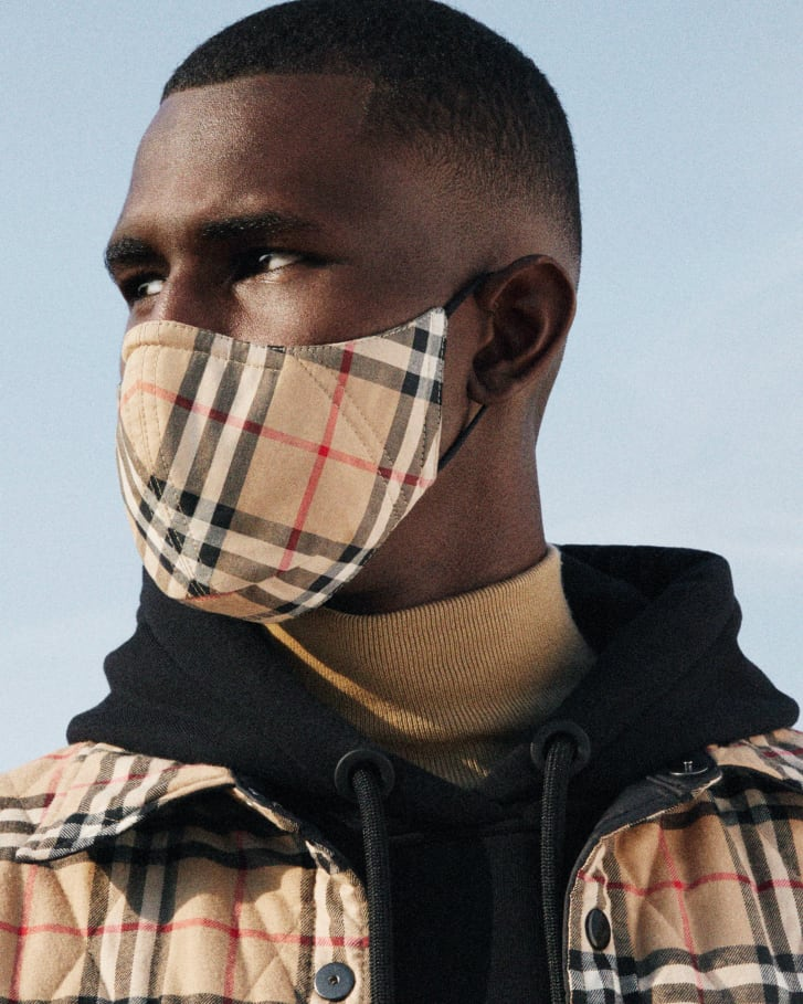 Burberry announced an upcoming line of antimicrobial masks in their signature check textile.