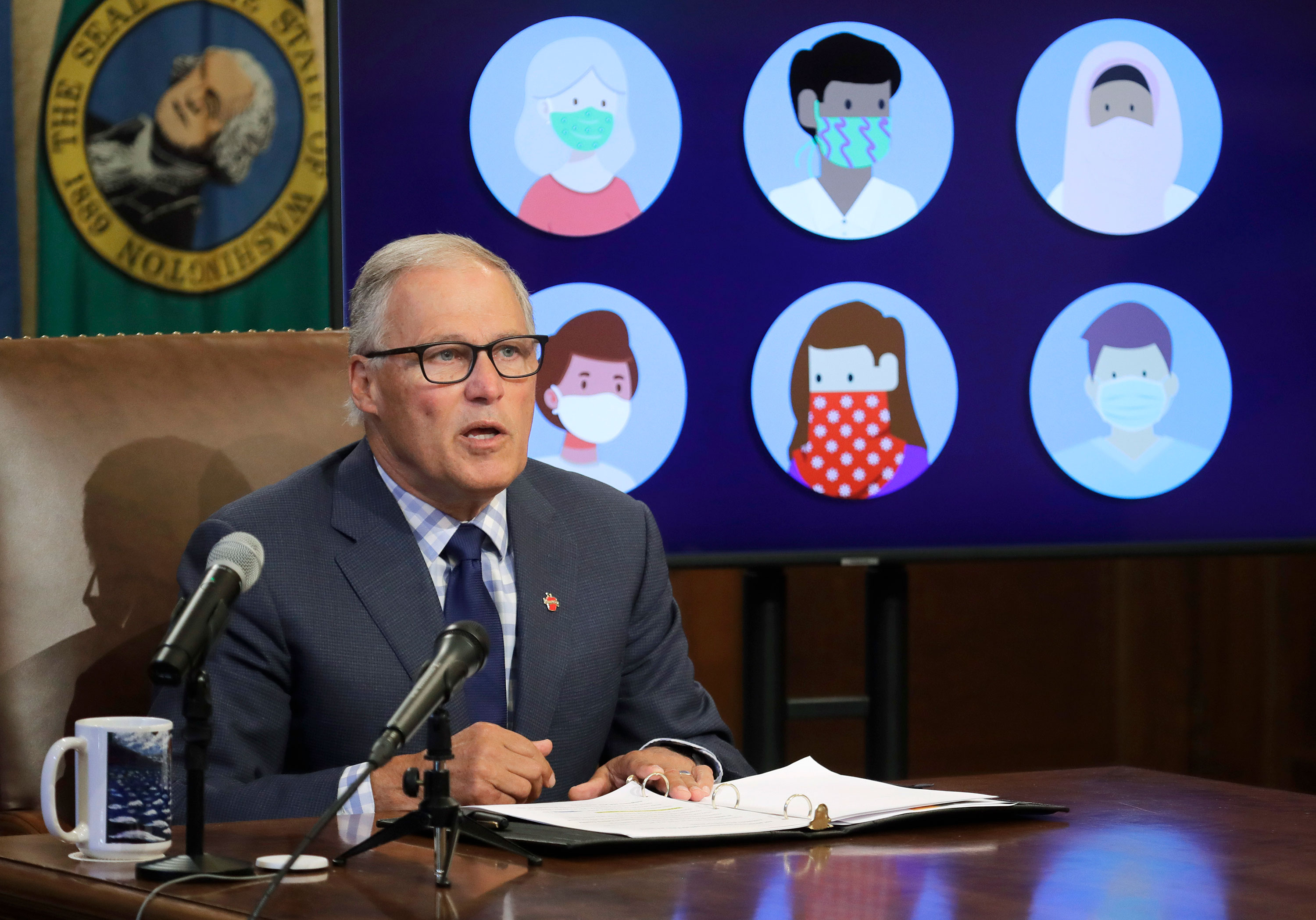 Washington Gov. Jay Inslee speaks during a news conference on Tuesday, June 23 at the Capitol in Olympia, Washington.