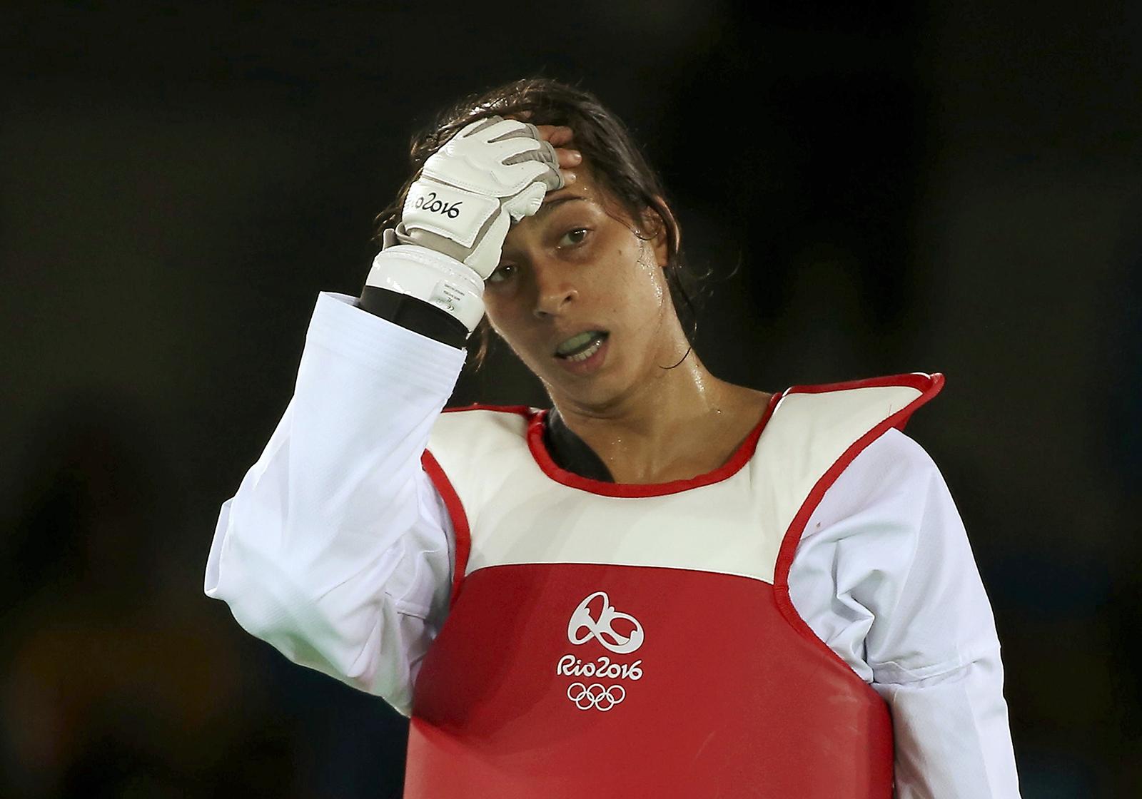 ReshmieOoginkduring the Olympic's Taekwondo - Quarterfinal - Women's +67kg in Rio de Janeiro, Brazil on Aug. 20, 2016.