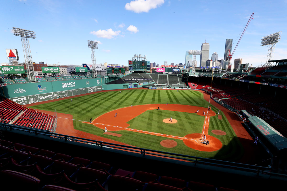 The Boston Red Sox play against the New York Yankees at Fenway Park on Sept. 20.