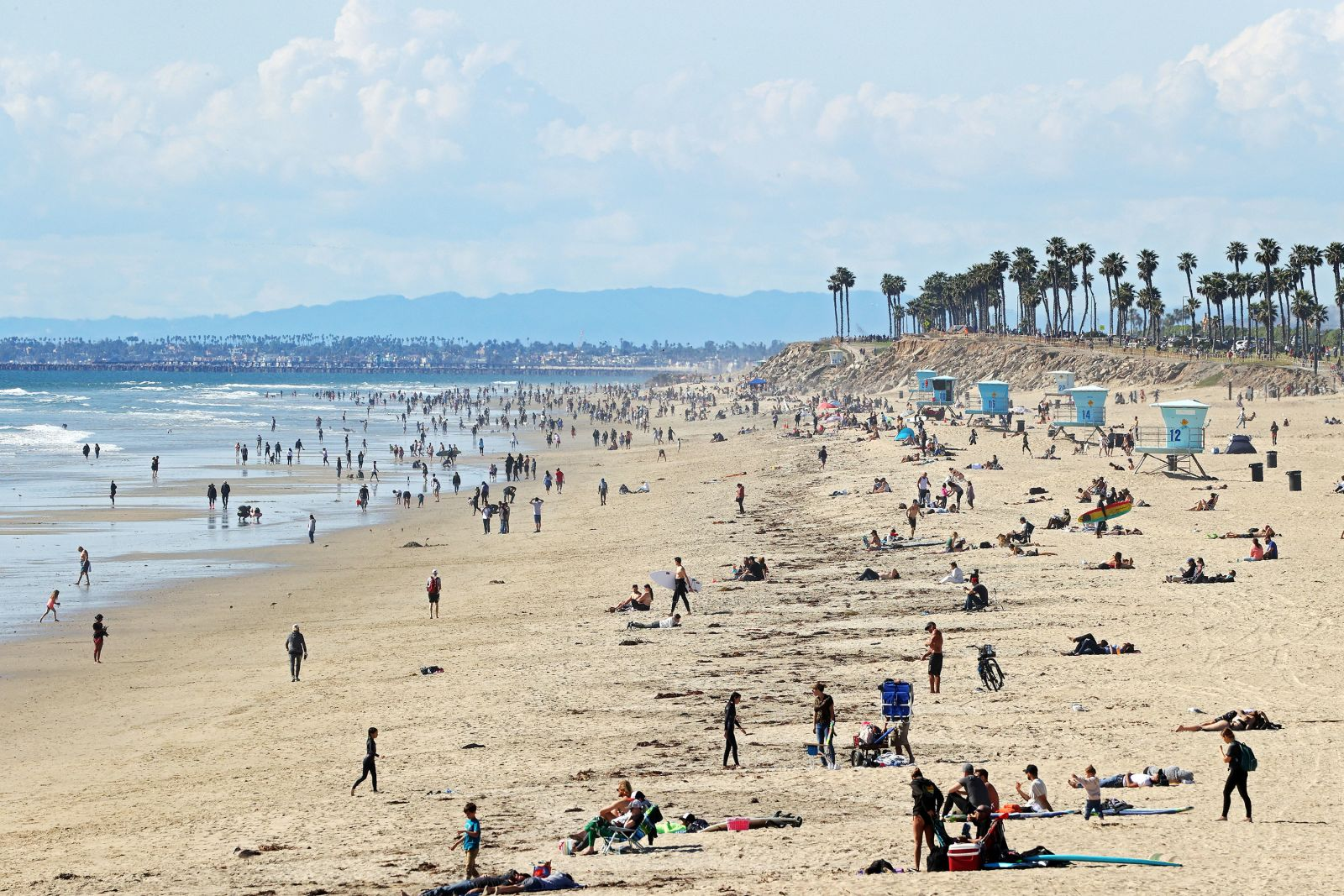 California's Huntington Beach on March 21.
