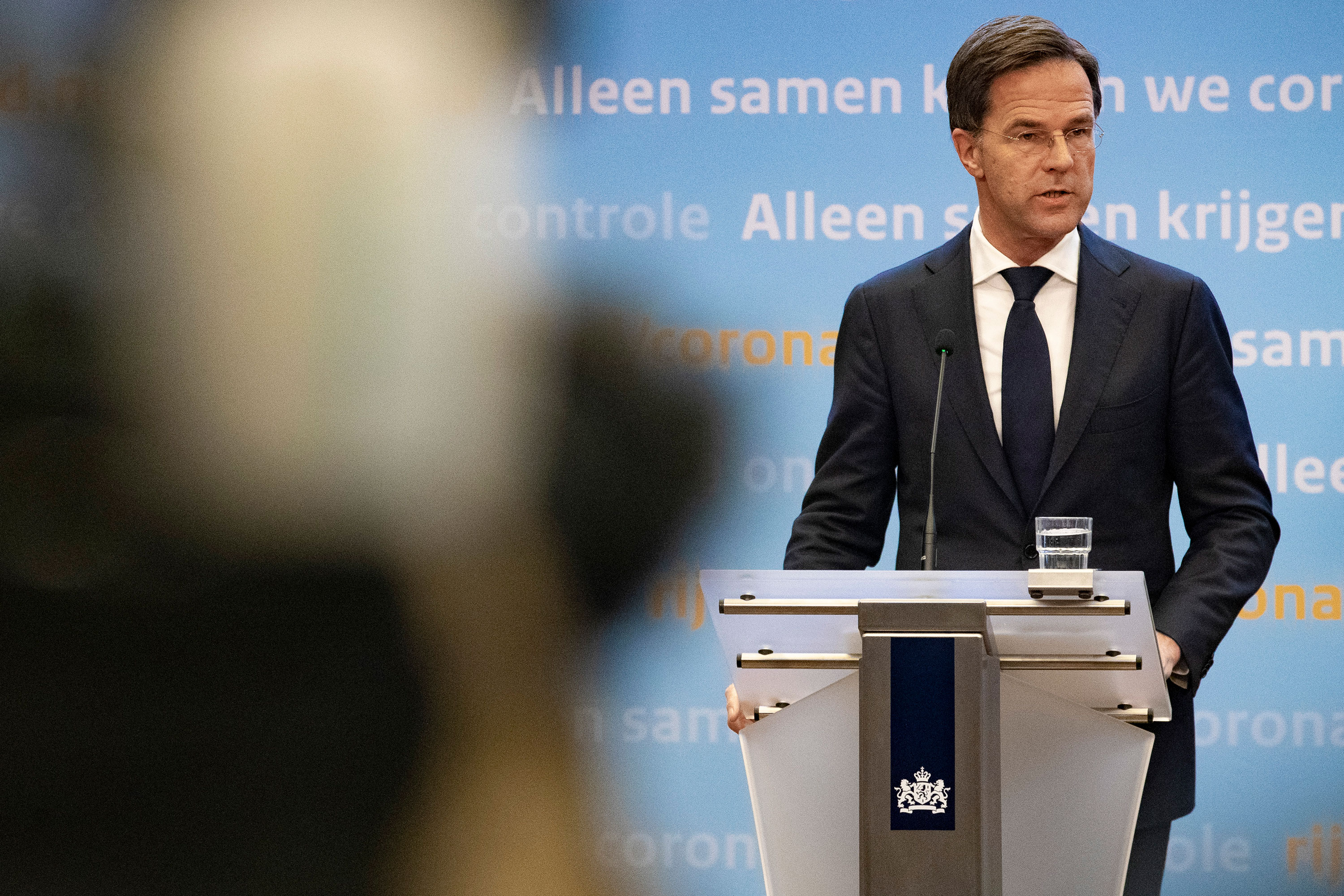 Dutch Prime Minister Mark Rutte speaks during a press conference on November 3 in The Hague, Netherlands.