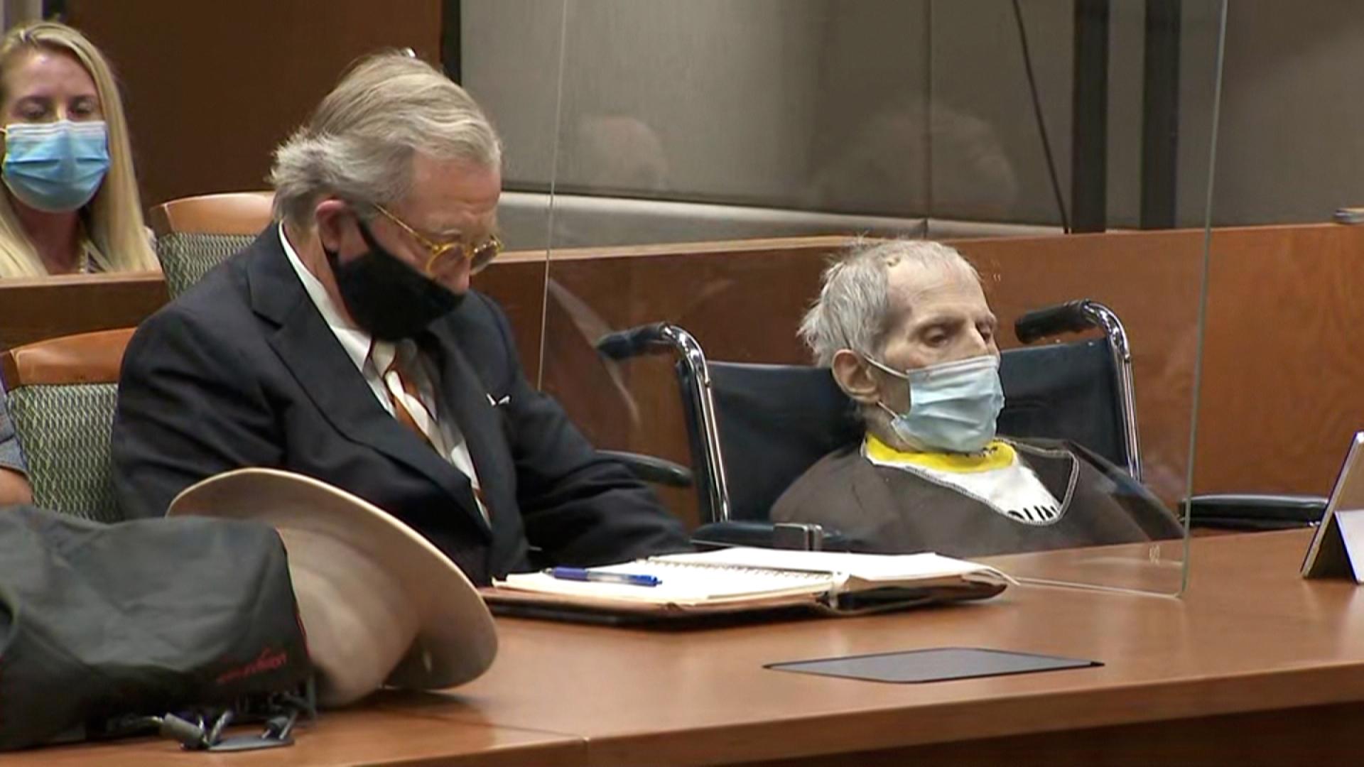 Robert Durst attends his sentencing on Thursday.