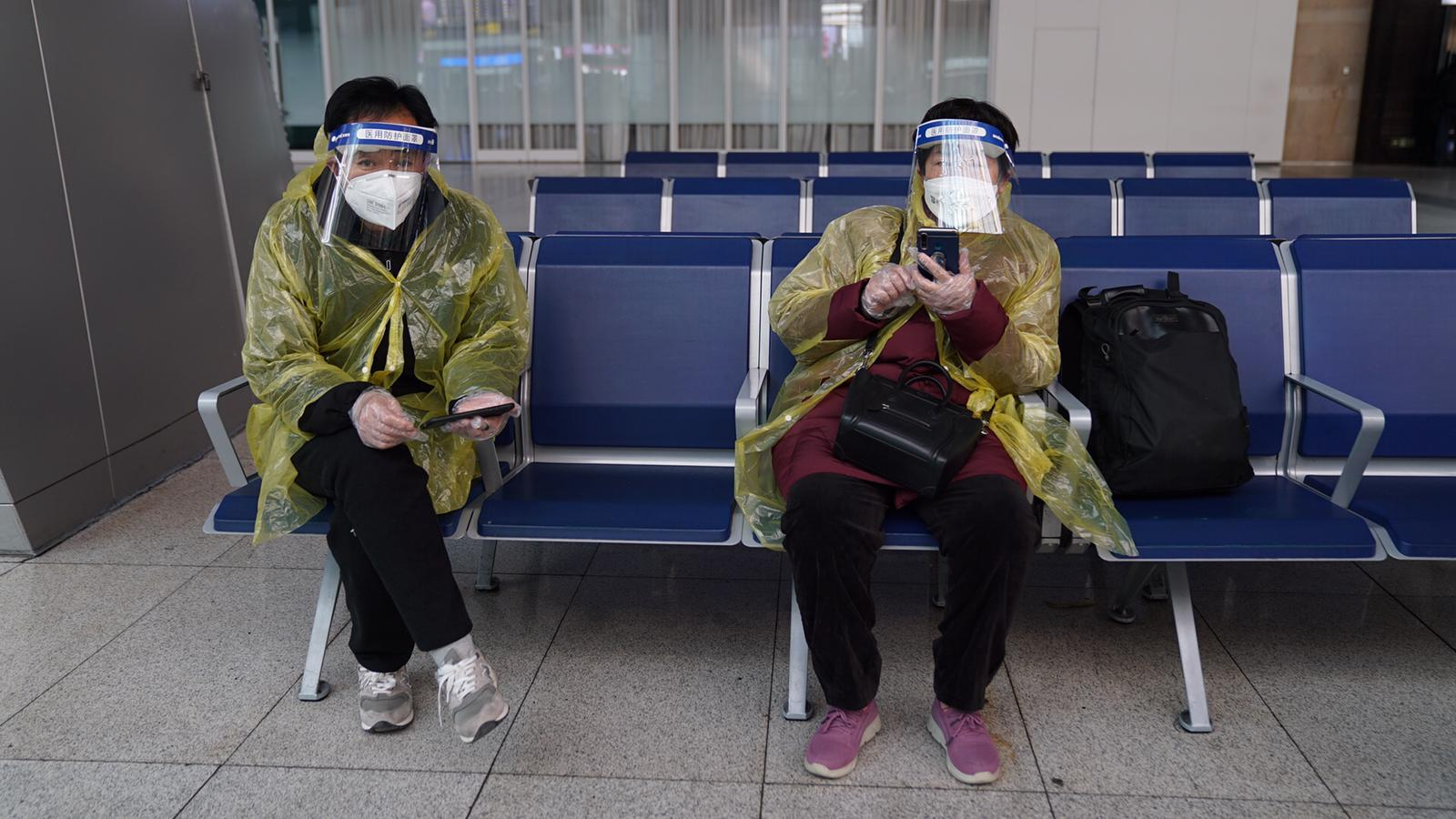 There isn't a single person in sight without a protective face mask.
