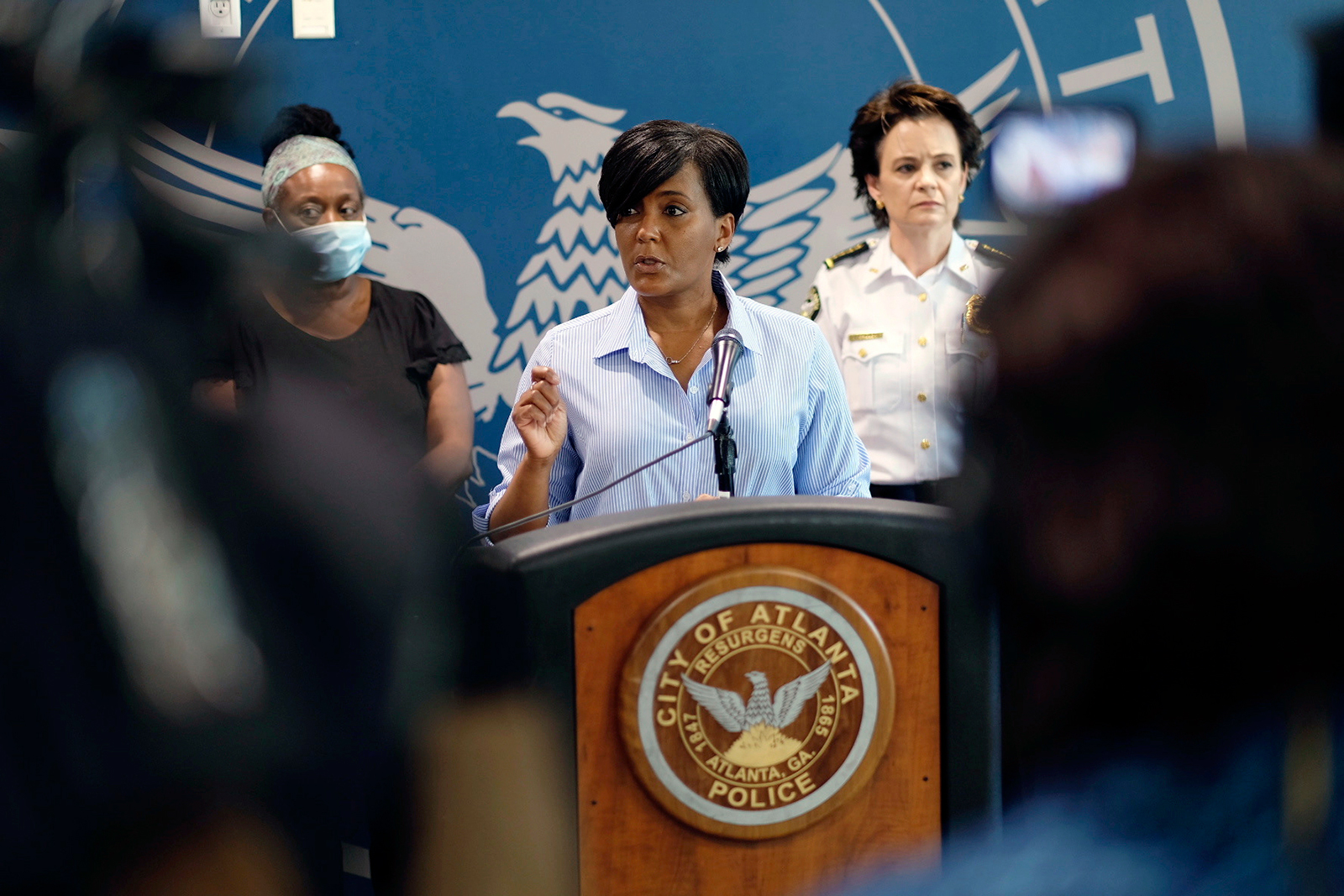 Atlanta Mayor Keisha Lance Bottoms speaks at a news conference about the George Floyd protests in Atlanta, on May 30.