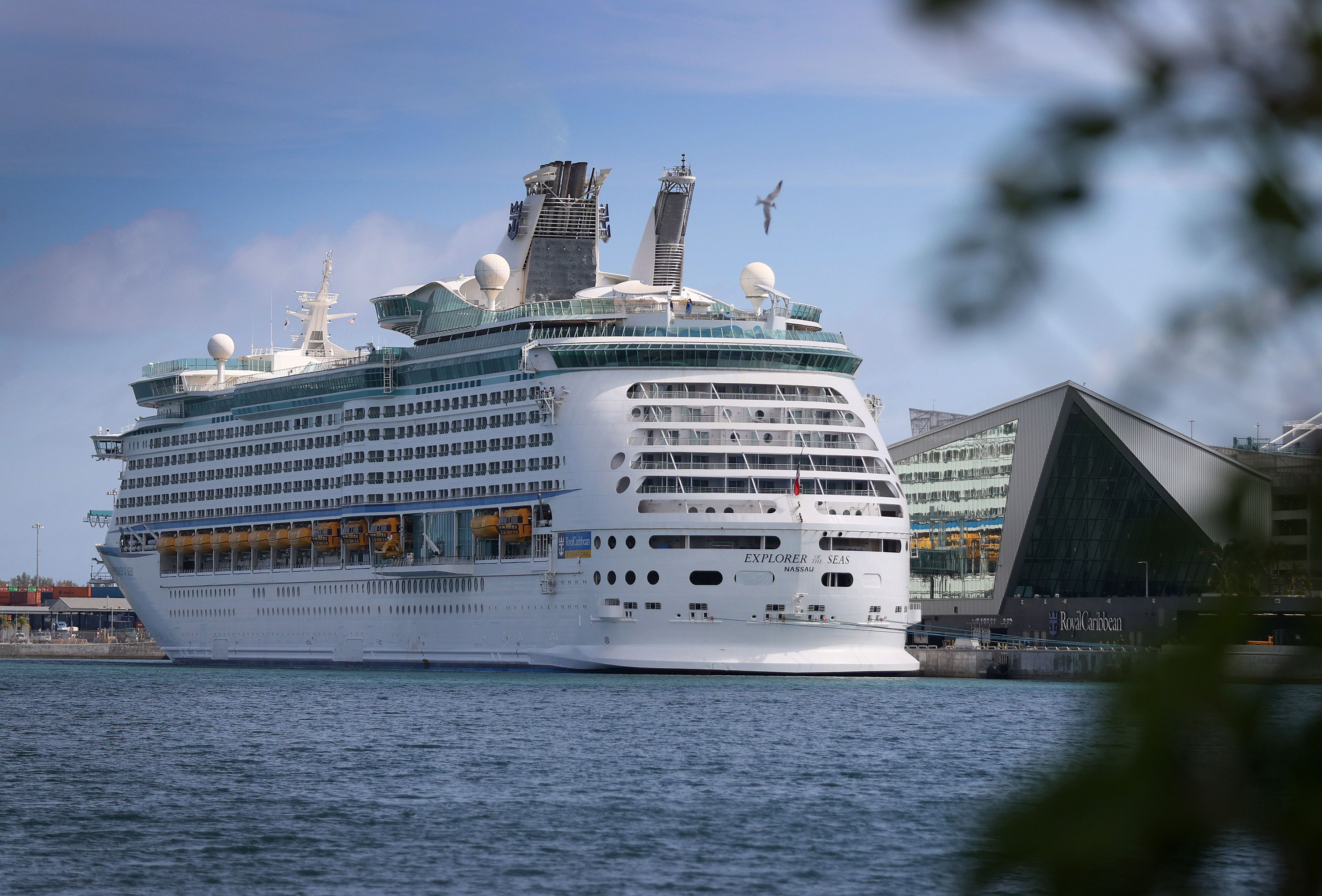 Royal Caribbean's Explorer of the Seas cruise ship is docked at PortMiami in Florida on March 2.