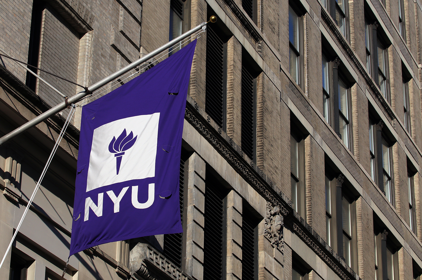 An NYU building in New York, NY as seen on July 16, 2017.
