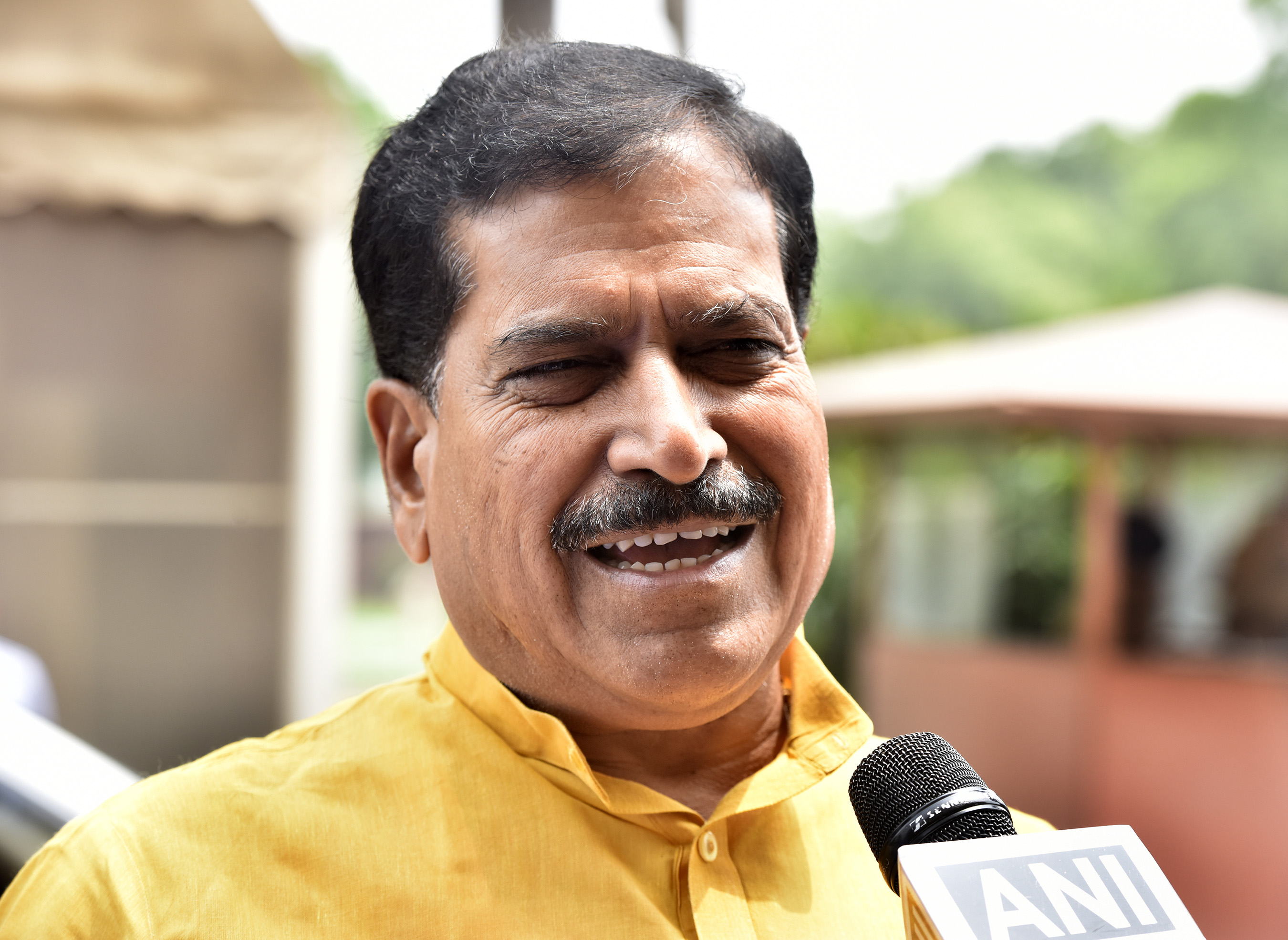 Minister of state Railways Suresh Angadi on July 8, 2019 in New Delhi, India.