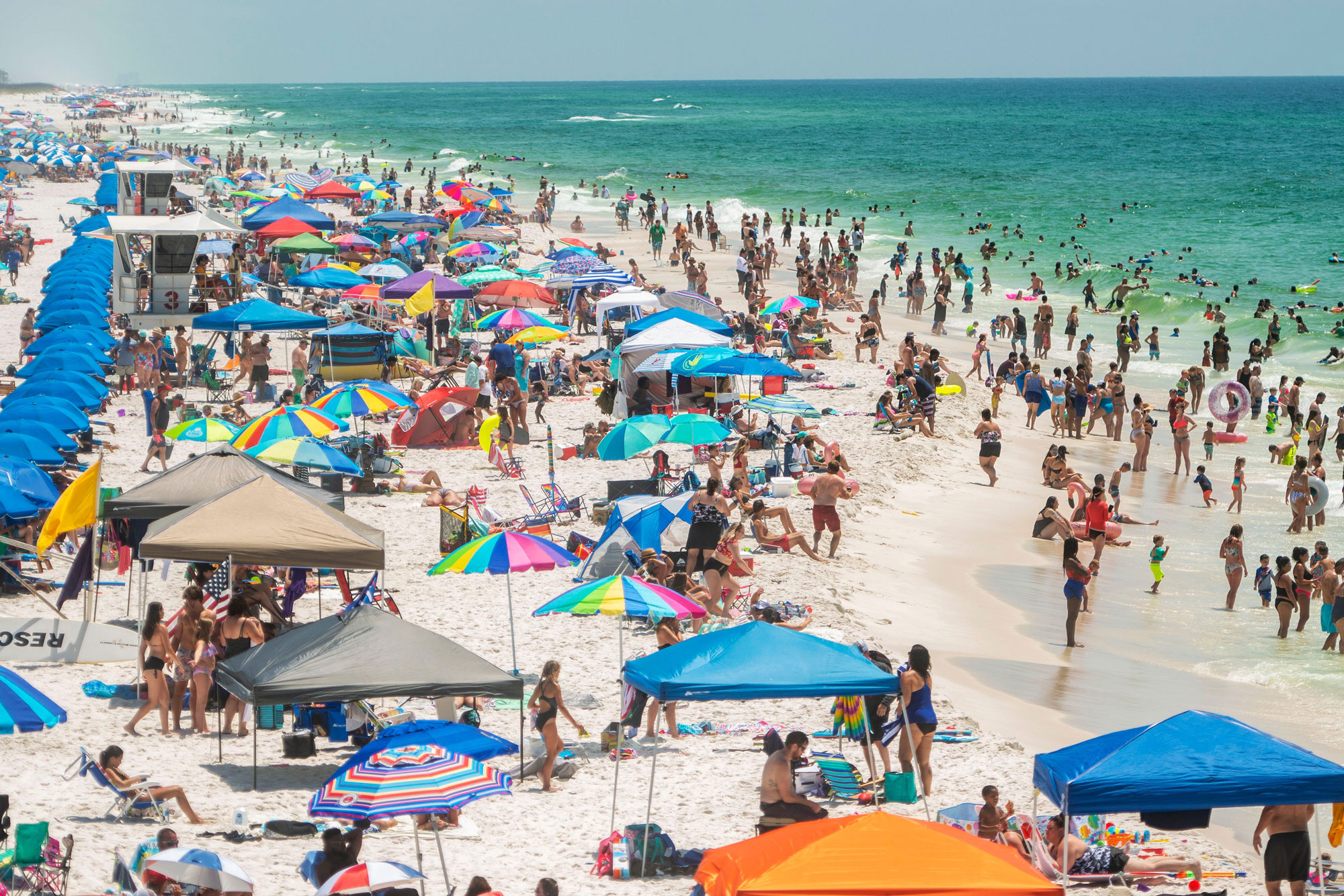 Visitors enjoy their Memorial Day weekend at Pensacola Beach on Saturday, May 23.