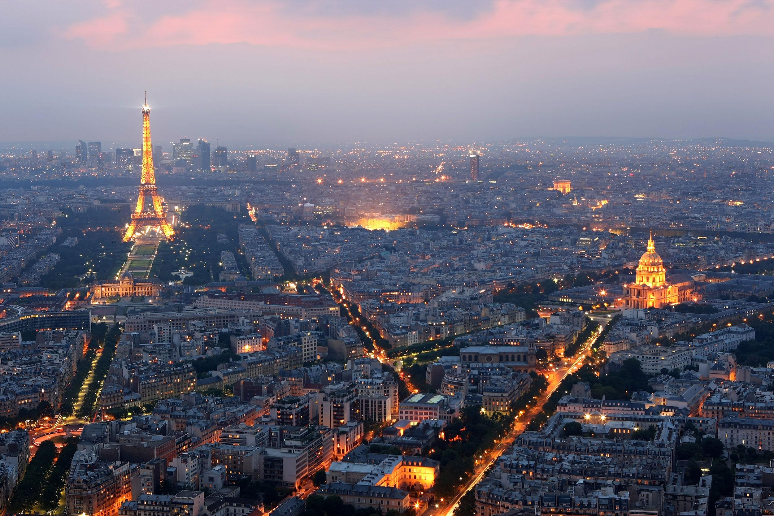 A general view of Paris, France.