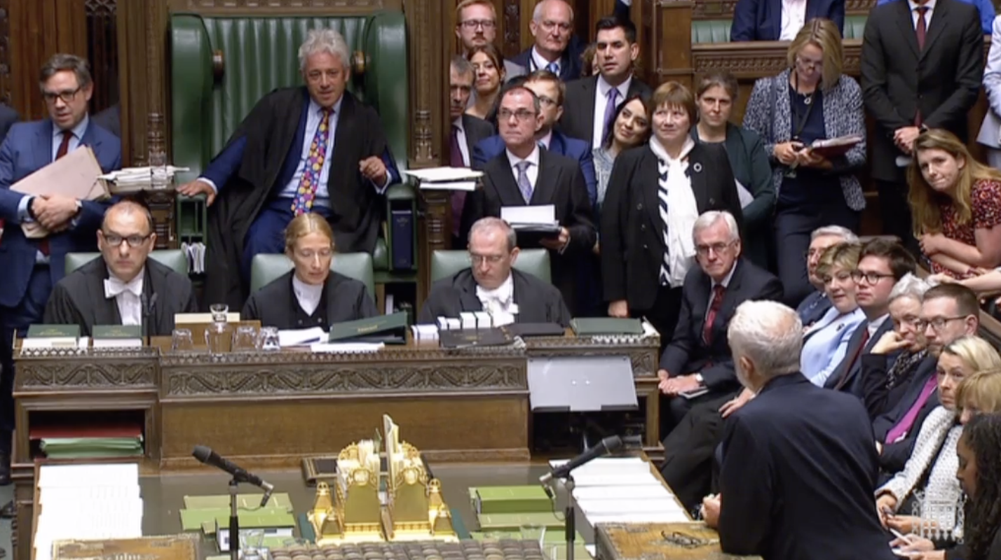 Opposition Labour leader Jeremy Corbyn paying tribute to Bercow.