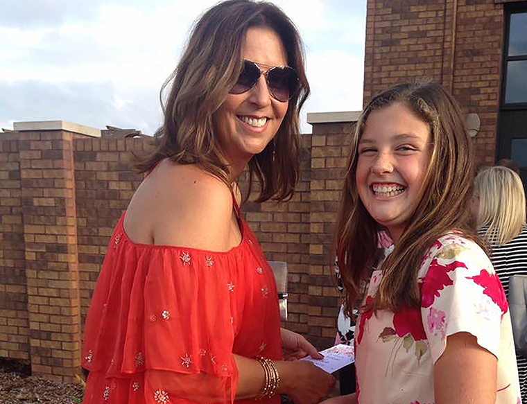 Sarah Chester and her daughter Payton