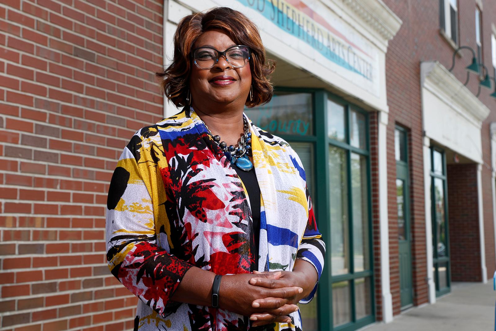 Mayor Ella Jones poses for a photo on June 3, in Ferguson, Missouri.