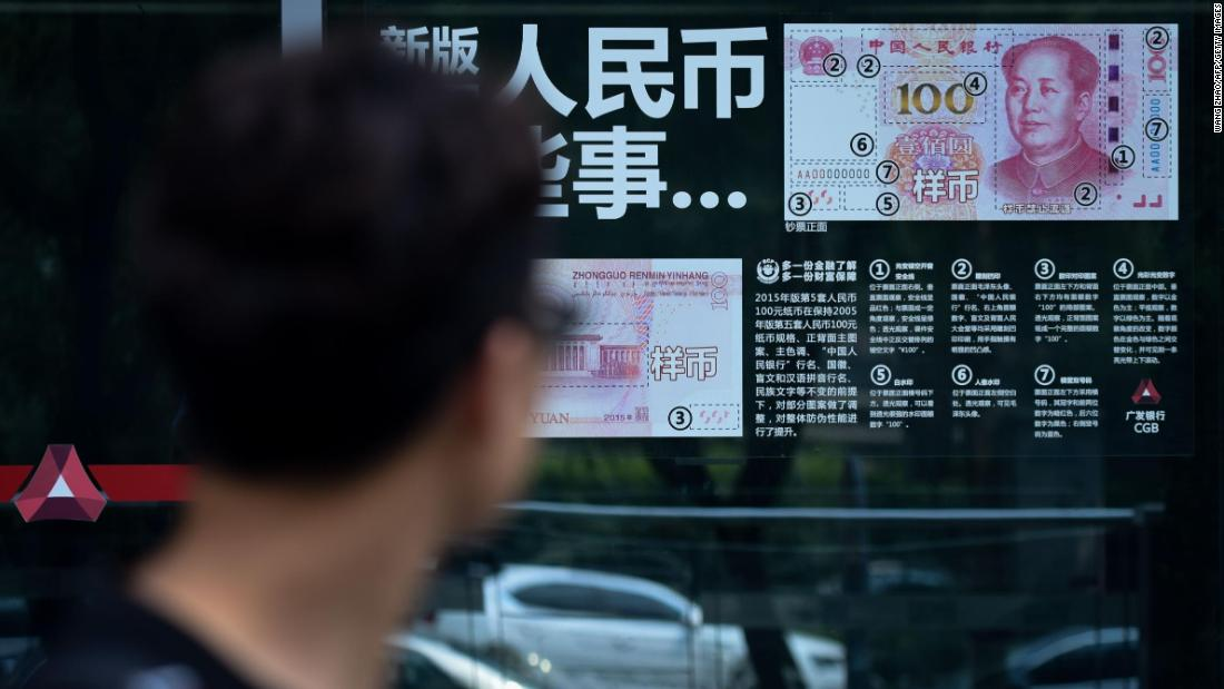 China's currency falls as more USA sanctions look likely