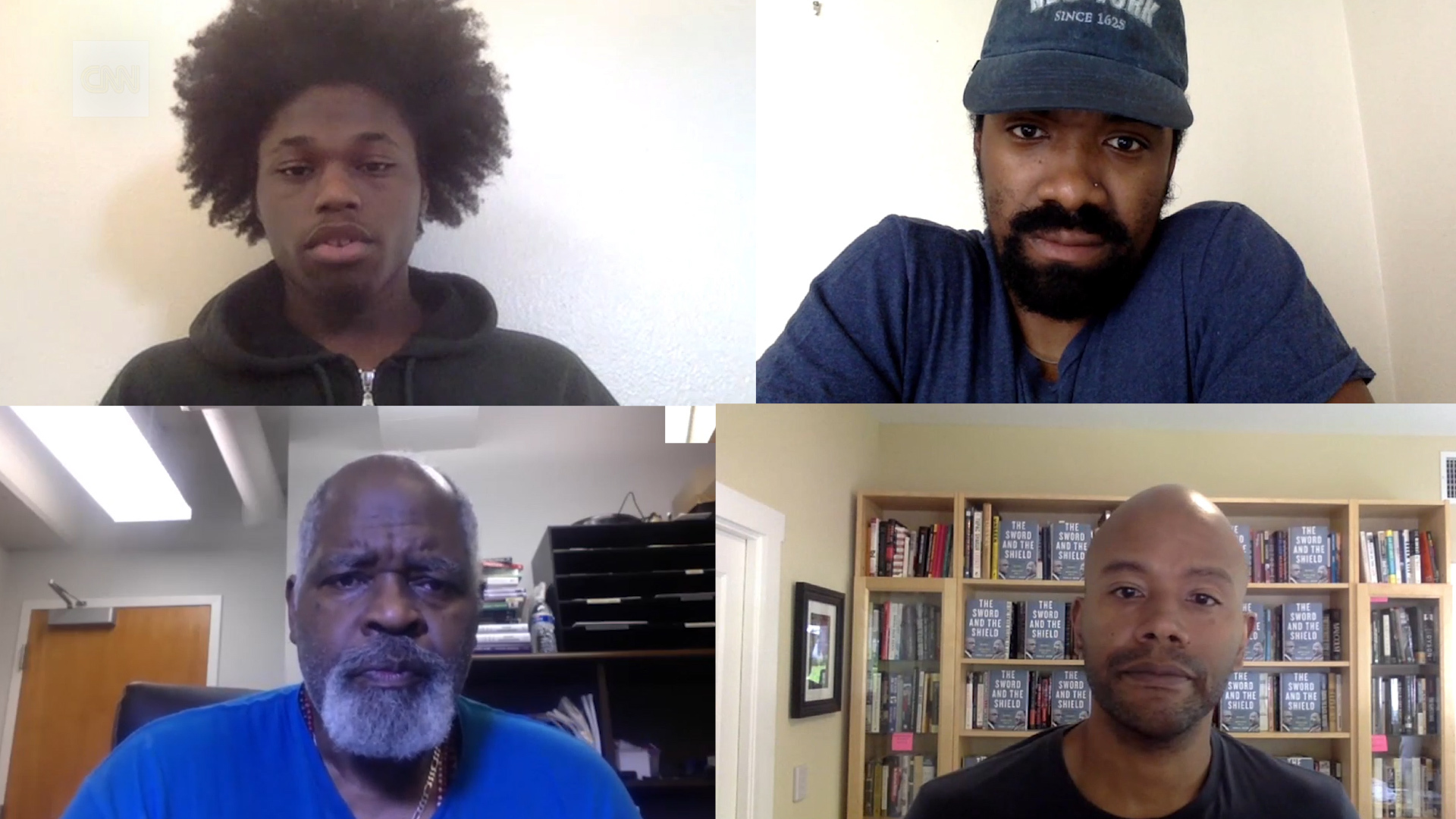 Clockwise from top left: Ajani Carr; Mike Mosby; Peniel Joseph; and Ed Whitfield.