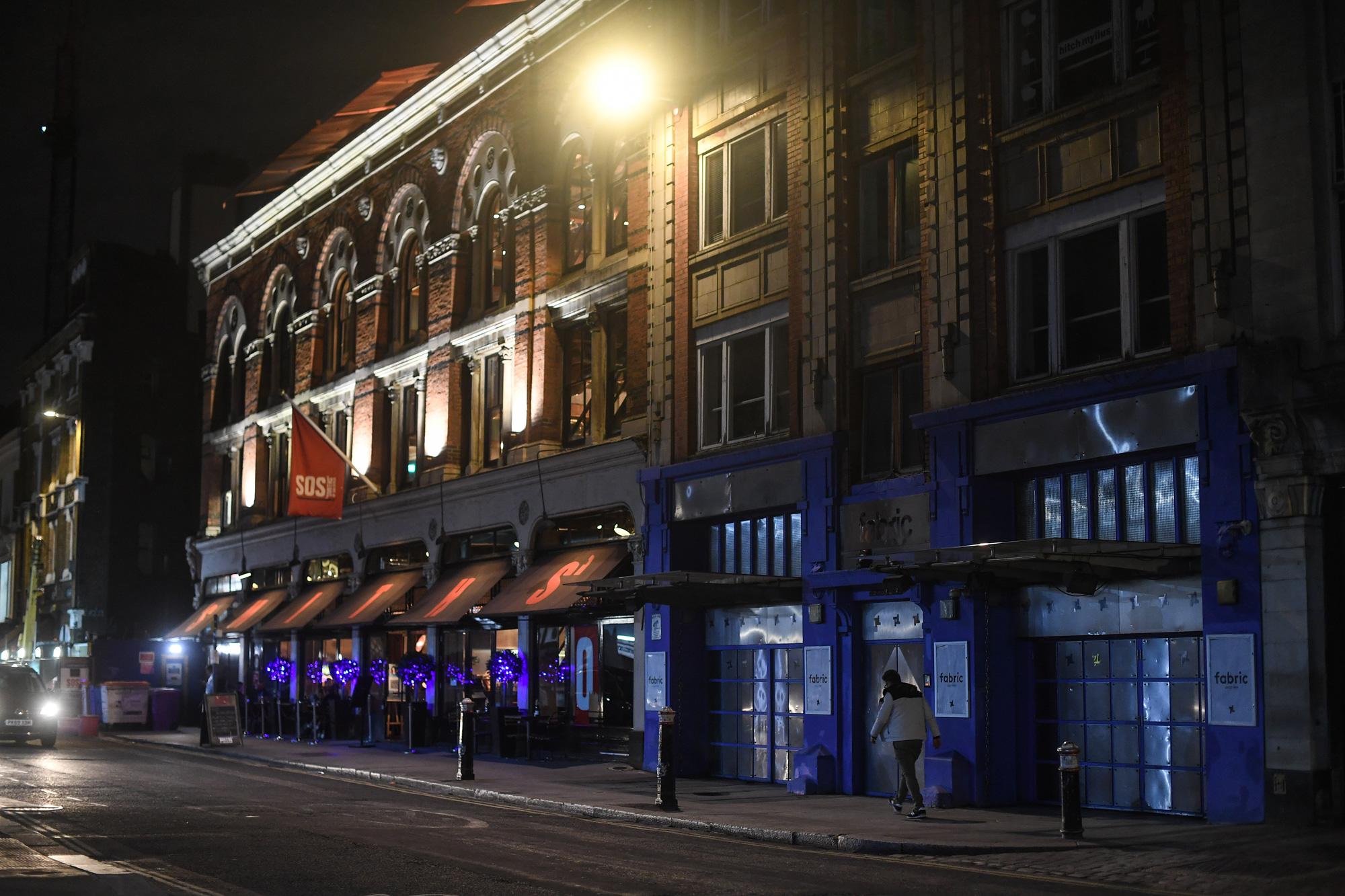 Fabric nightclub is seen on October 1 in London.