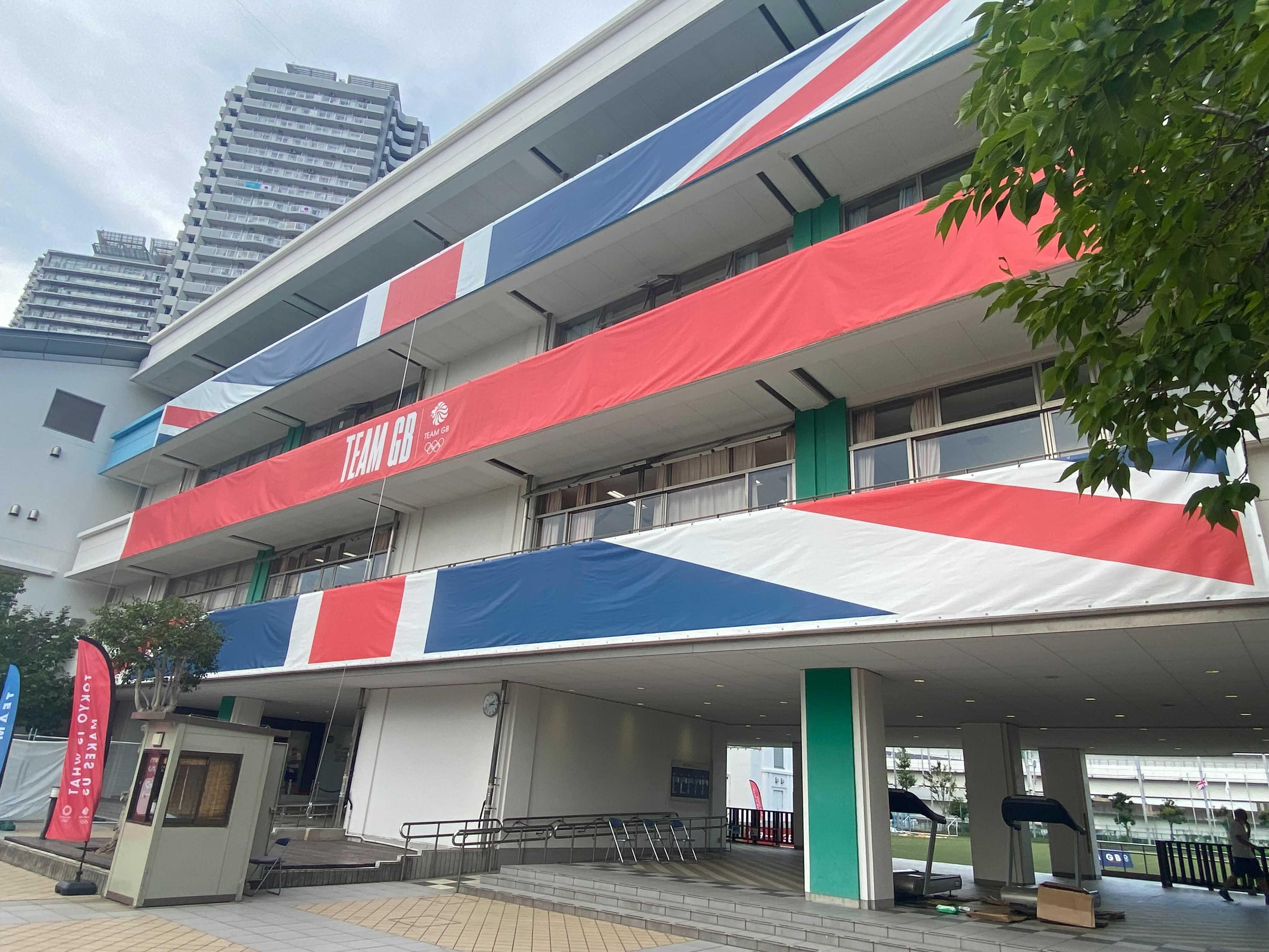 Team Great Britain's headquarters in Tokyo.