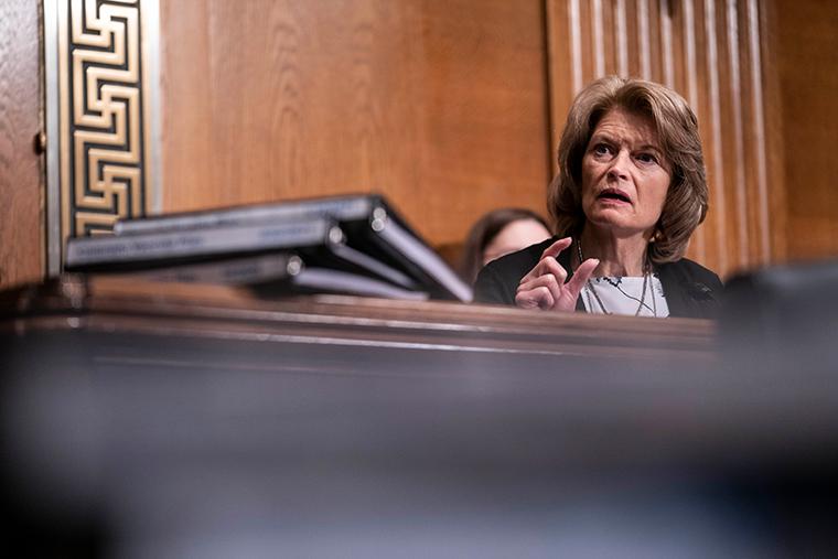 Lisa Murkowski (R-AK) on February 23, 2021 in Washington, DC.