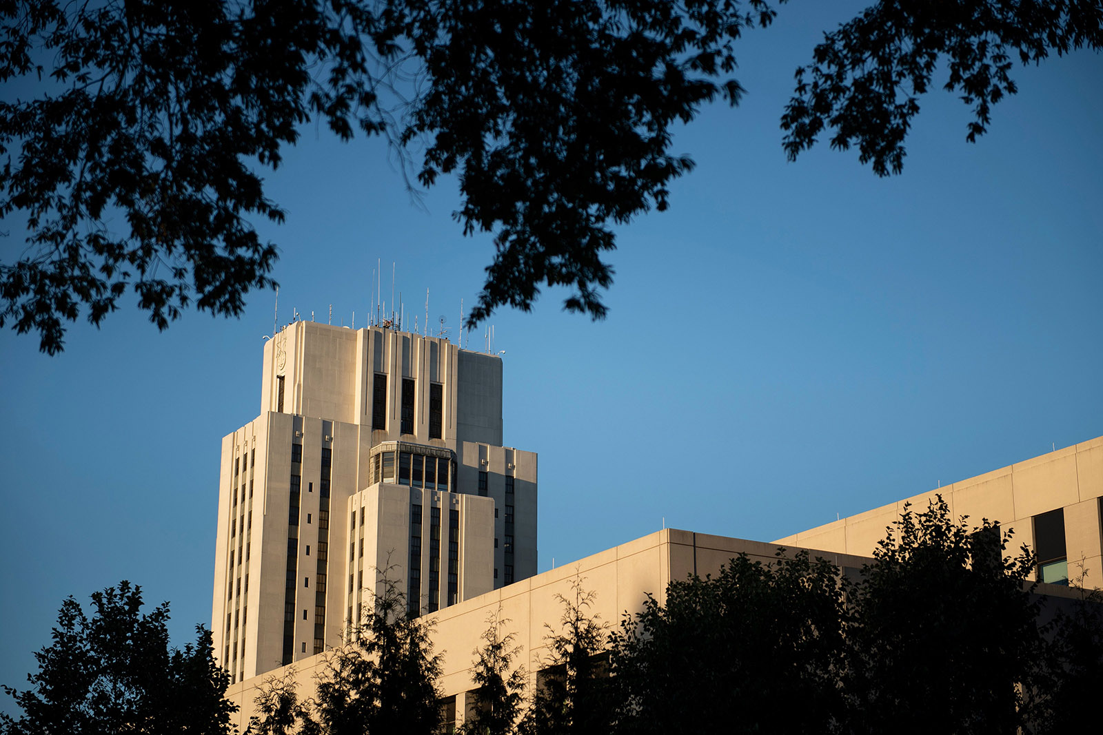 Walter Reed National Military Medical Center on October 2, in Bethesda, Maryland.