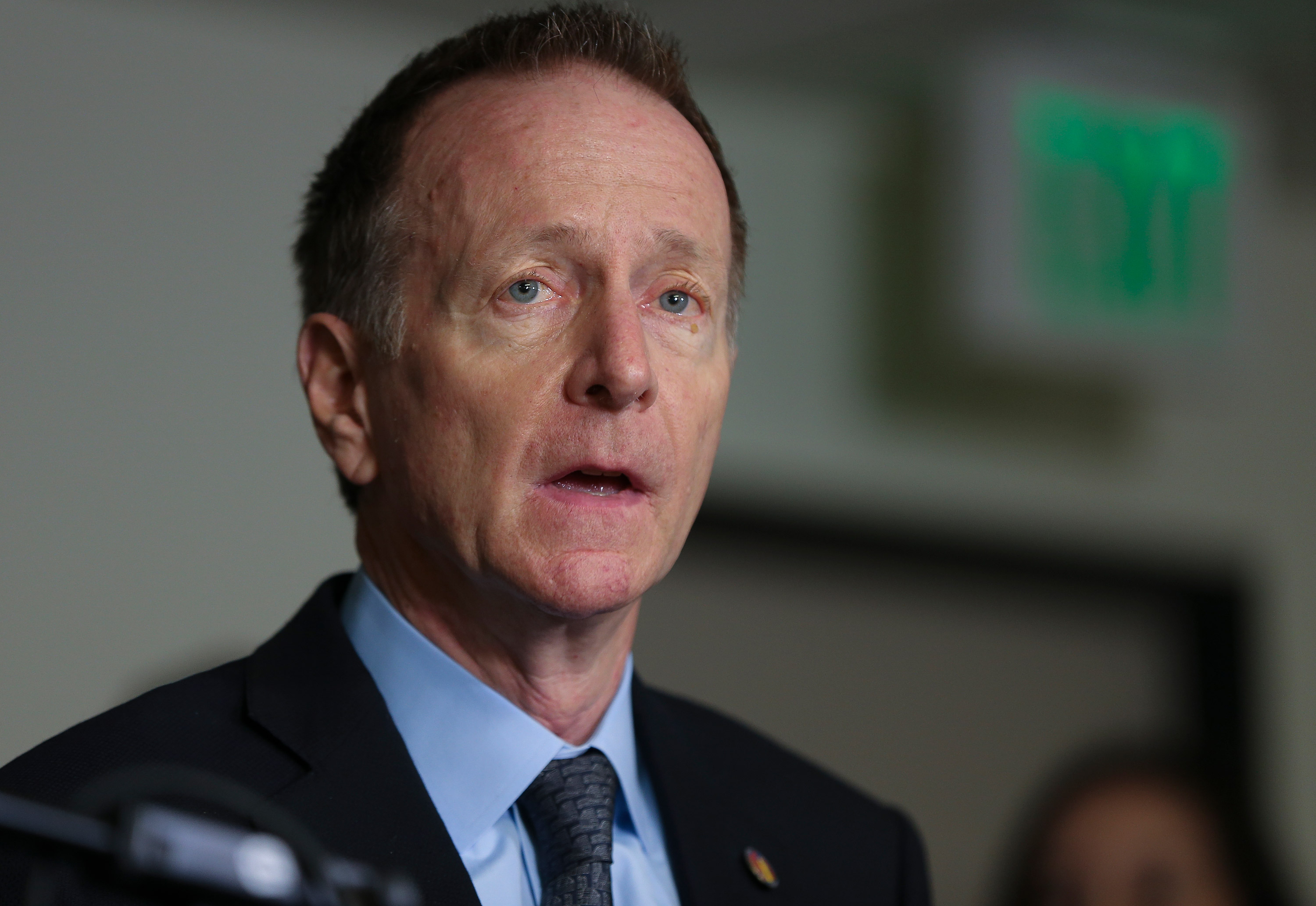 Superintendent of the Los Angeles Unified School District Austin Beutner speaks during a news conference at the school district headquarters in Los Angeles, on March 13.