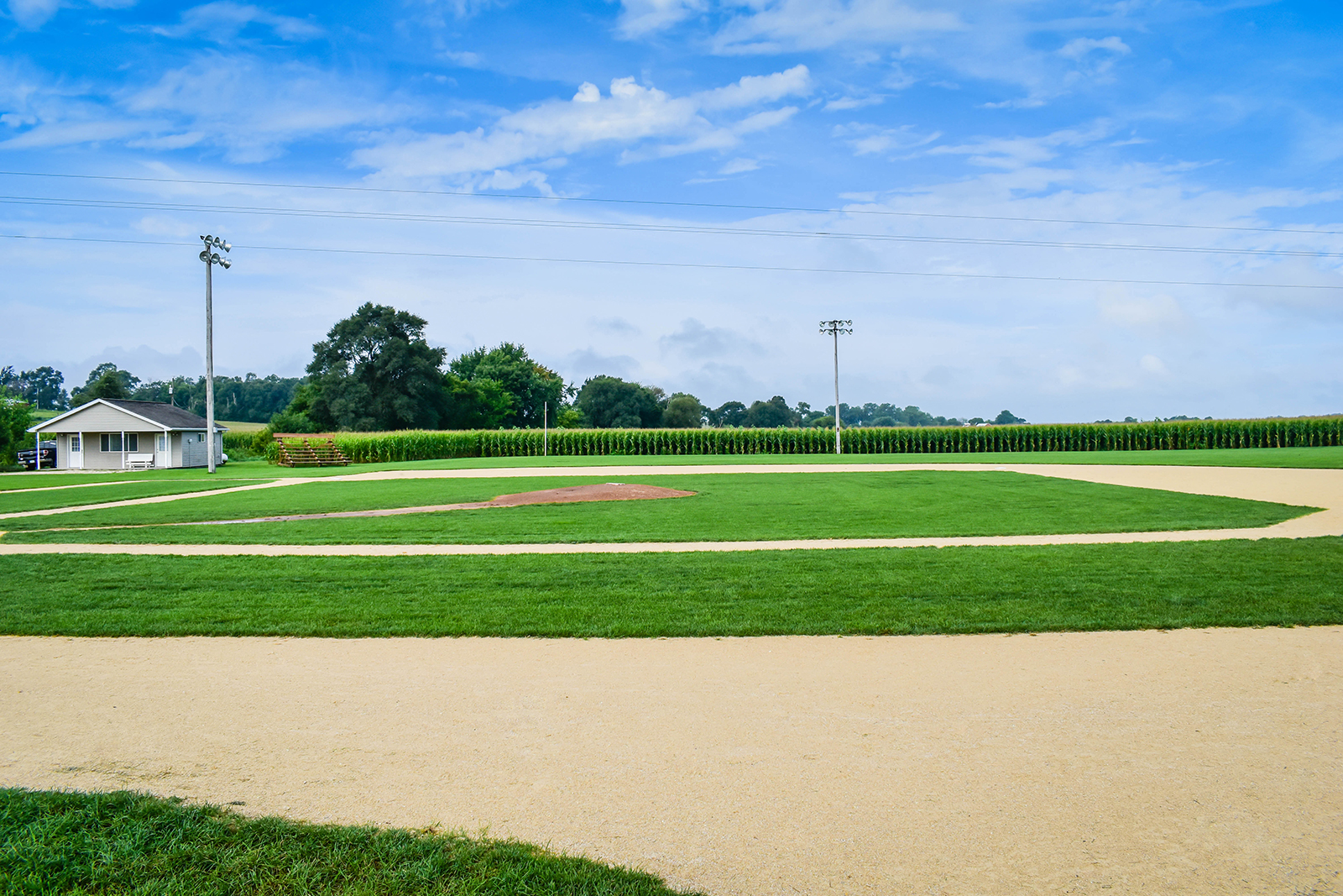 The Field of Dreams baseball field located near Dyersville, Iowa.