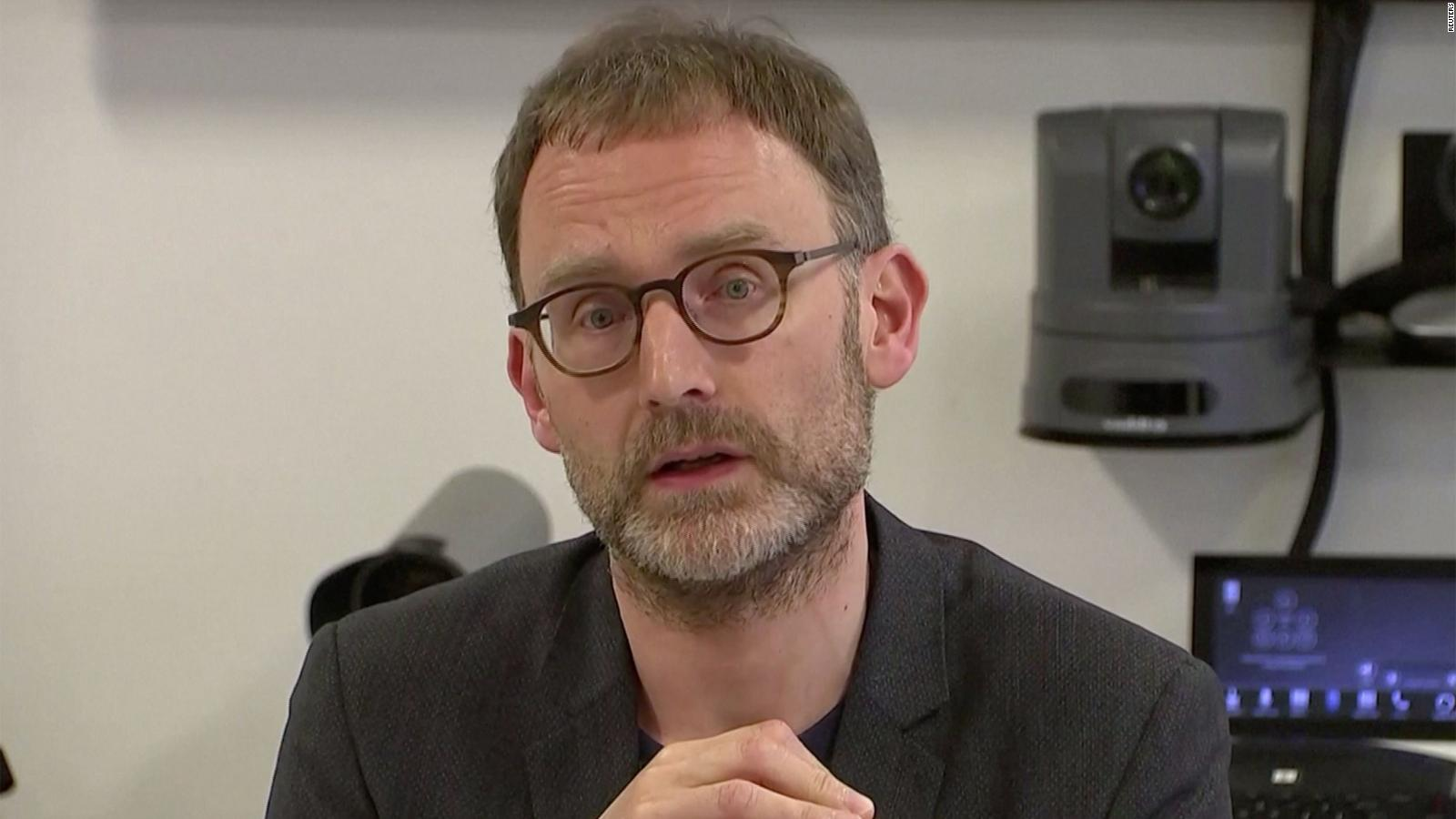 Professor Neil Ferguson speaks at a news conference in London, England, on January 22.