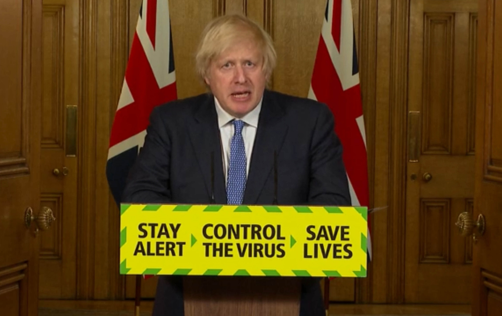 In this screen grab, Prime Minister Boris Johnson speaks during a media briefing in Downing Street, London on July 3.