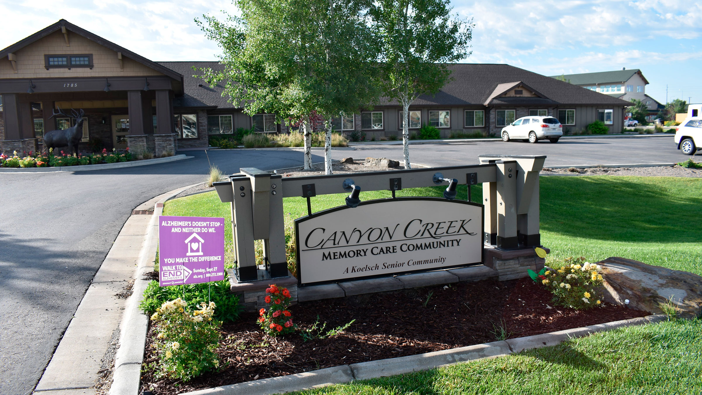 Canyon Creek Memory Care is seen in Billings, Montana, on Friday.